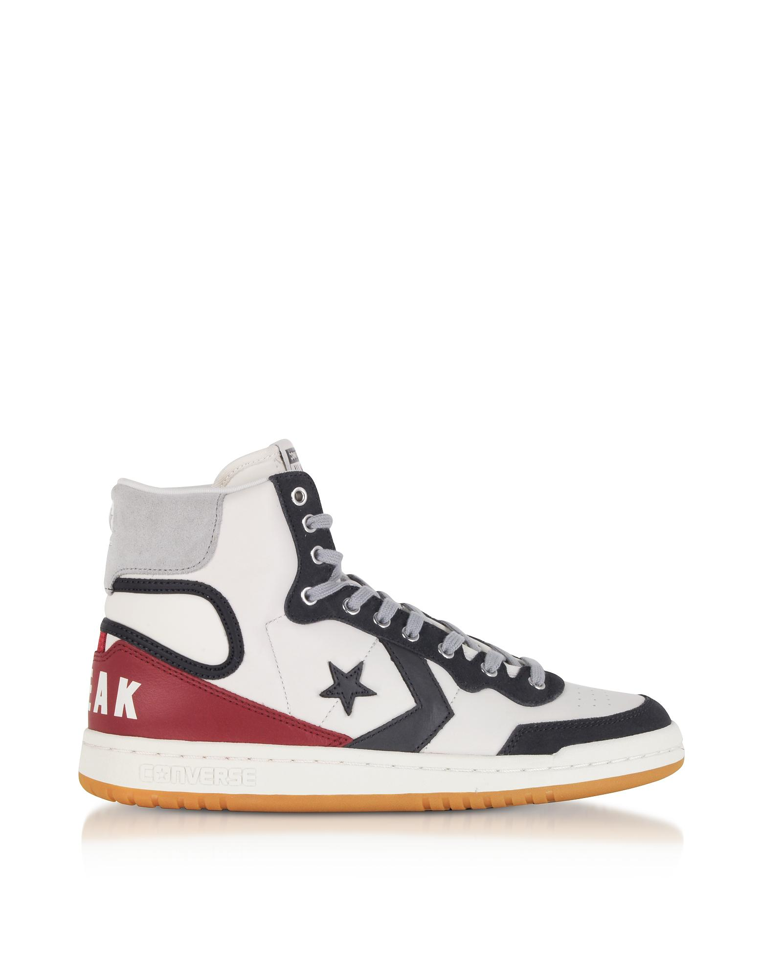 14e6a1f60f7 Lyst - Converse Fastbreak Hi Light Gray And Storm Wind Leather High ...