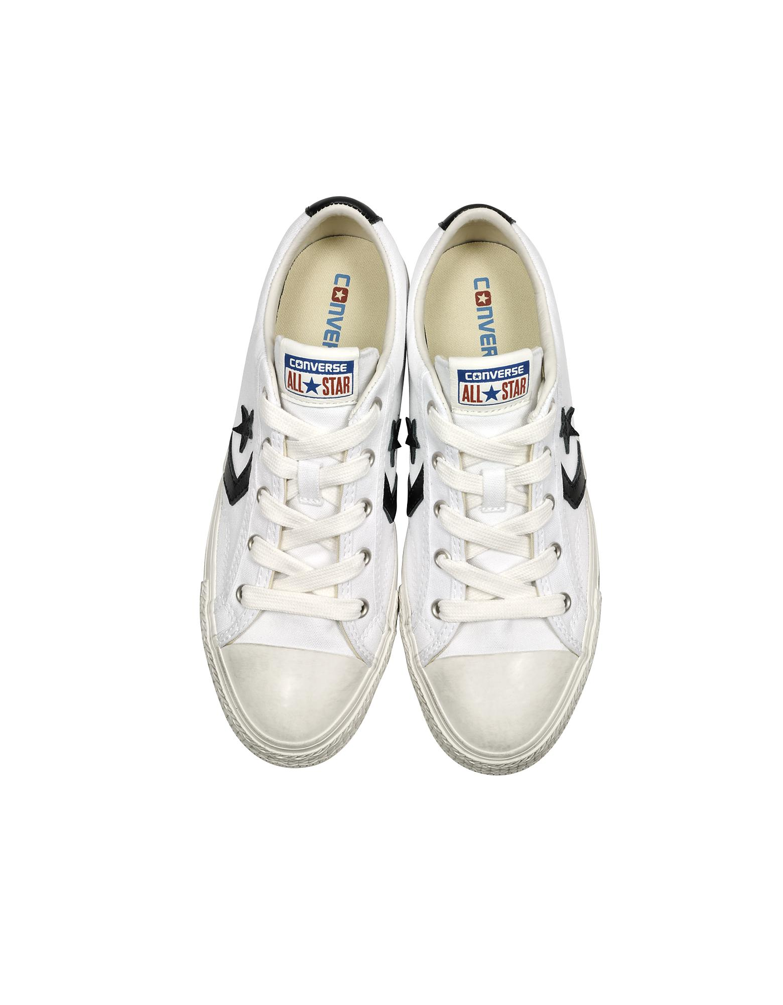 White Star Player Distressed Ox Canvas Men's Sneakers