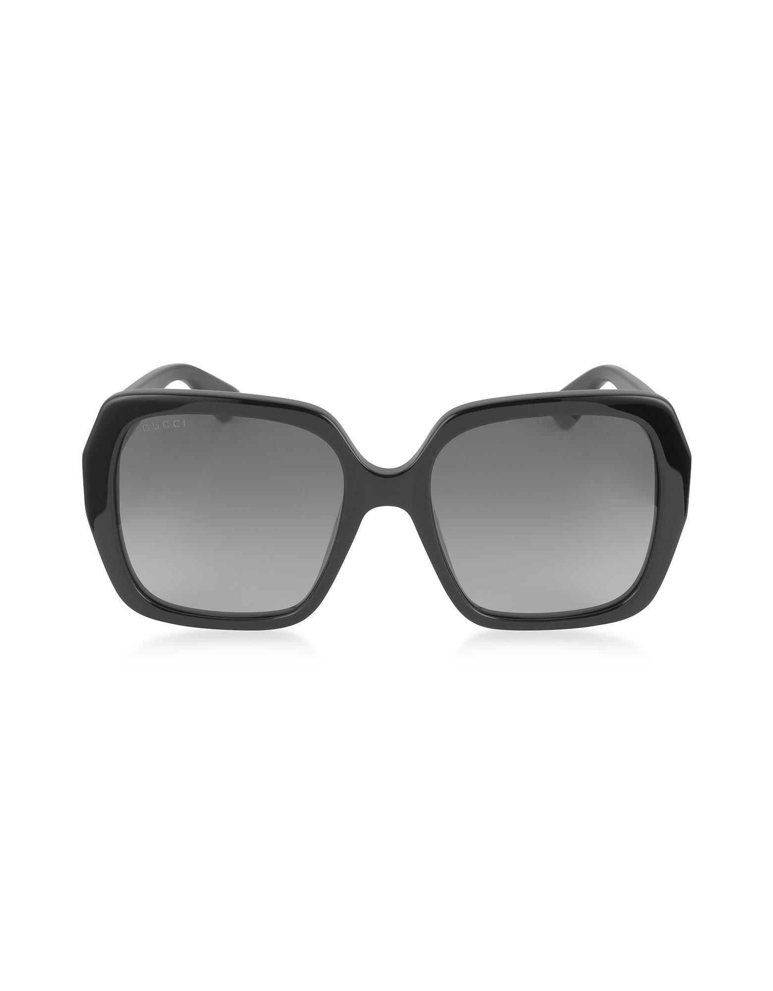 gucci 3806. gucci | gg0096s 001 black acetate square women\u0027s sunglasses lyst 3806