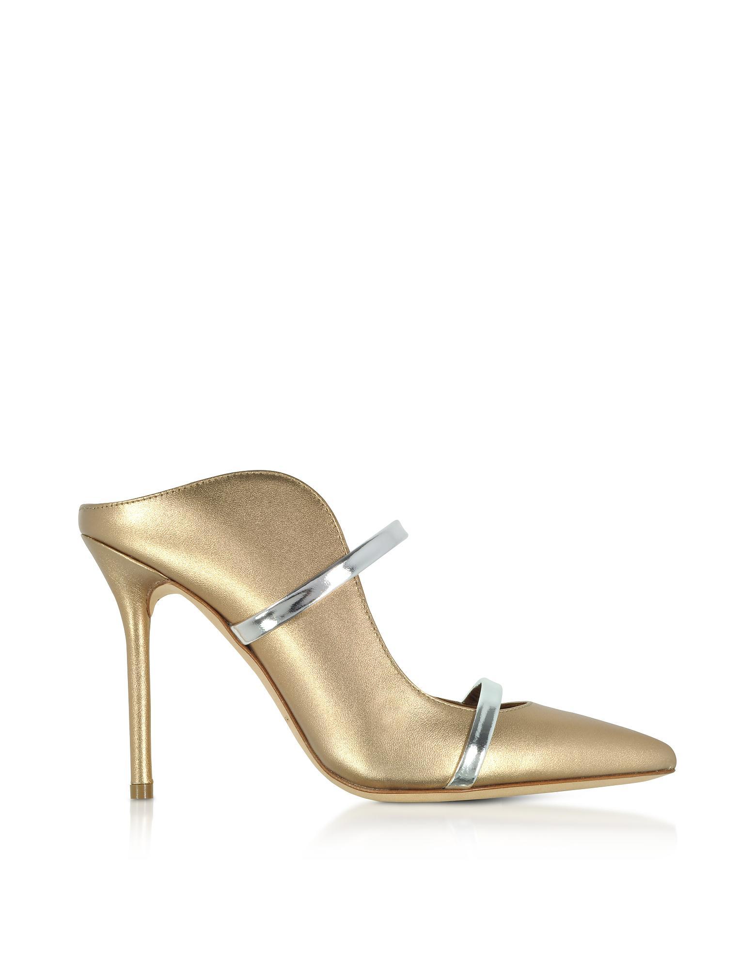 a74d76b34c Malone Souliers Gold/silver Metallic Nappa Leather Maureen High Heel ...