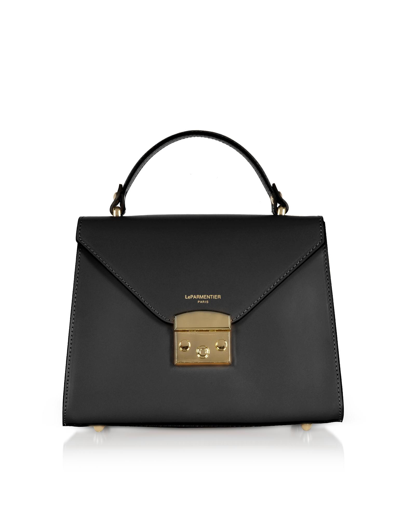 1193dc6bc5f1 Le Parmentier Peggy Leather Top Handle Satchel Bag in Black - Lyst