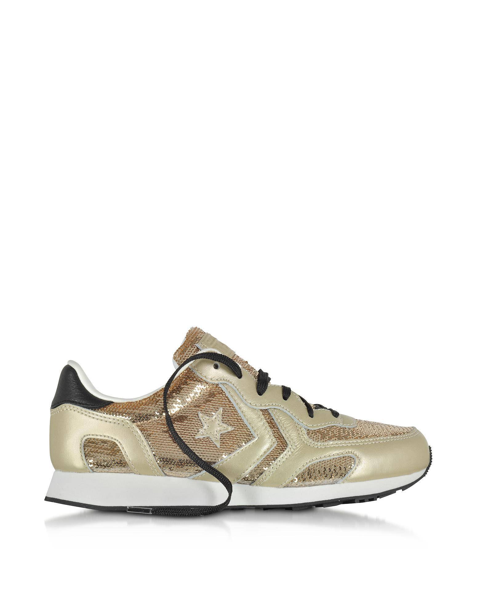 AUCKLAND RACER OX SEQUINS/LEATHER METALLIC - FOOTWEAR - Low-tops & sneakers Converse gh00xbAK