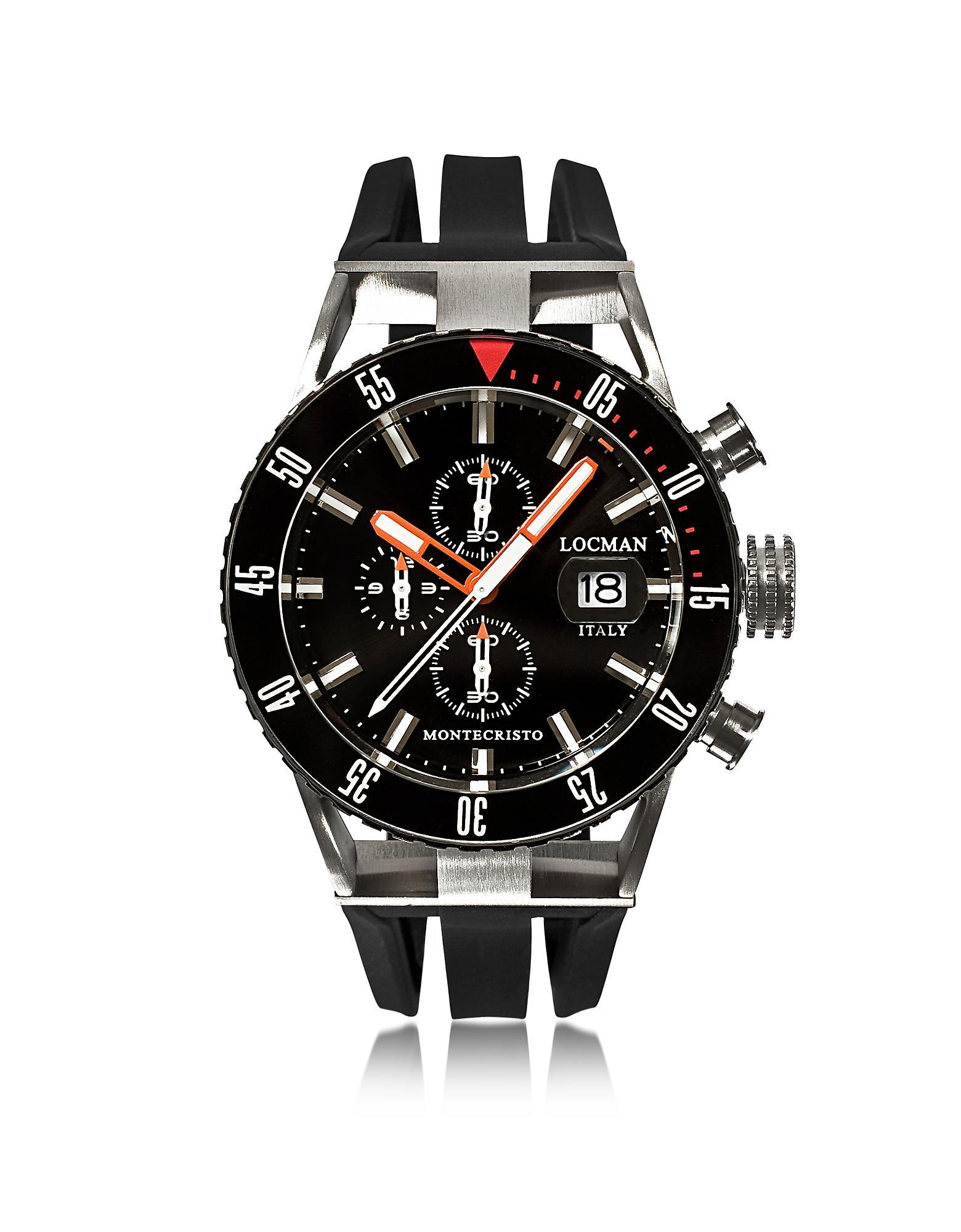ad7edf47dc77 Montecristo Reloj Cronógrafo para Hombre de Acero Inoxidable Negro y ...