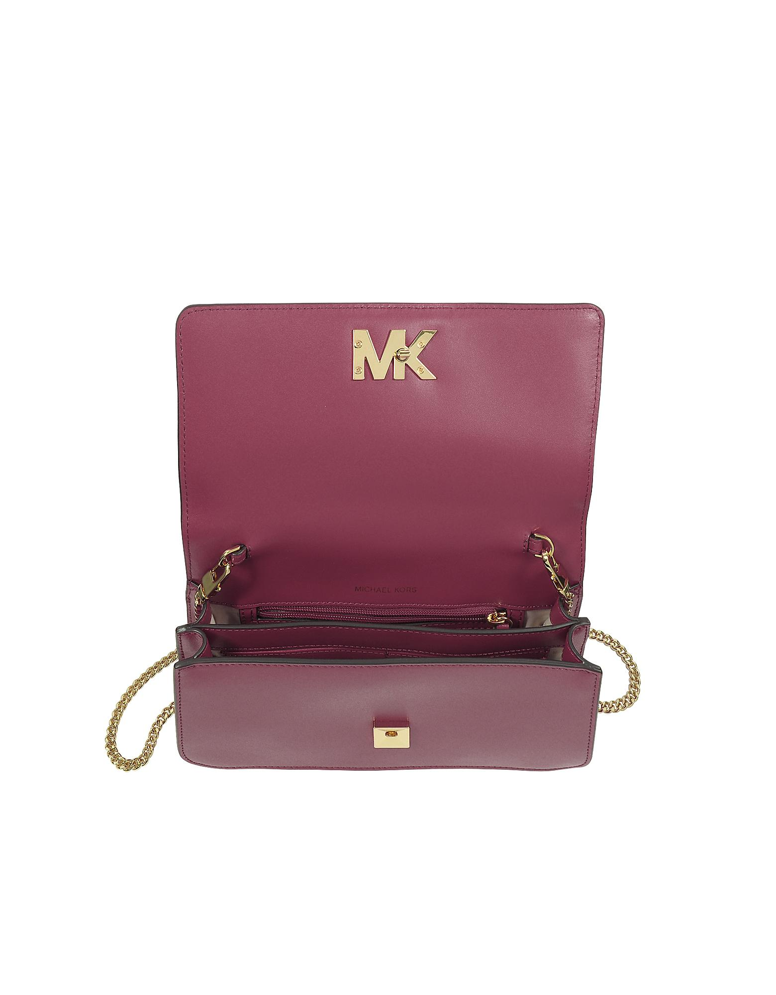 29f200b9778765 Michael Kors Mott Large Mulberry Leather Clutch in Purple - Lyst