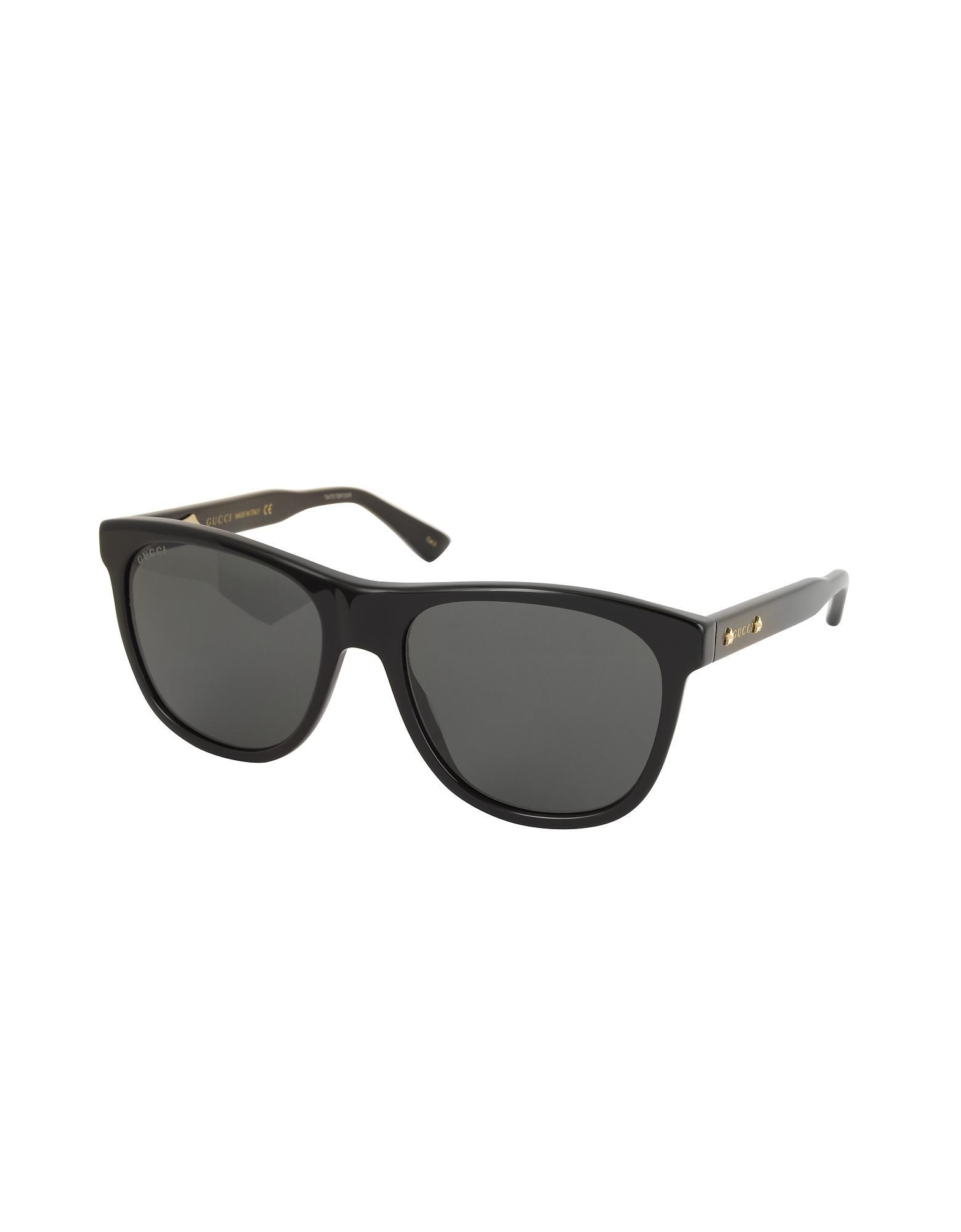 590a32903e Gucci GG0266S Squared-frame Black Sunglasses W polarized Lenses in Black  for Men - Lyst