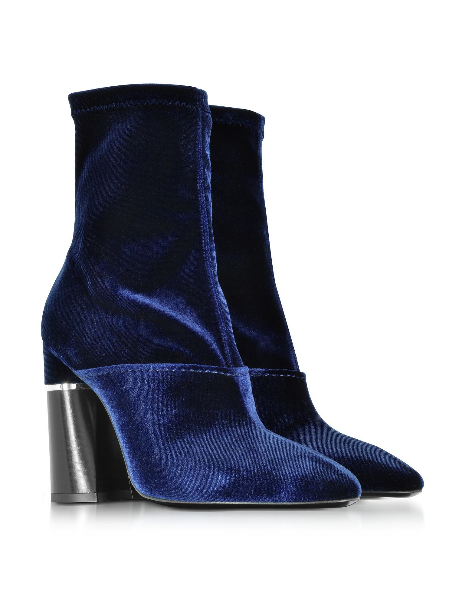 Giuseppe Zanotti Blue Velvet Kyoto Boots shop cheap online SMB1Myna