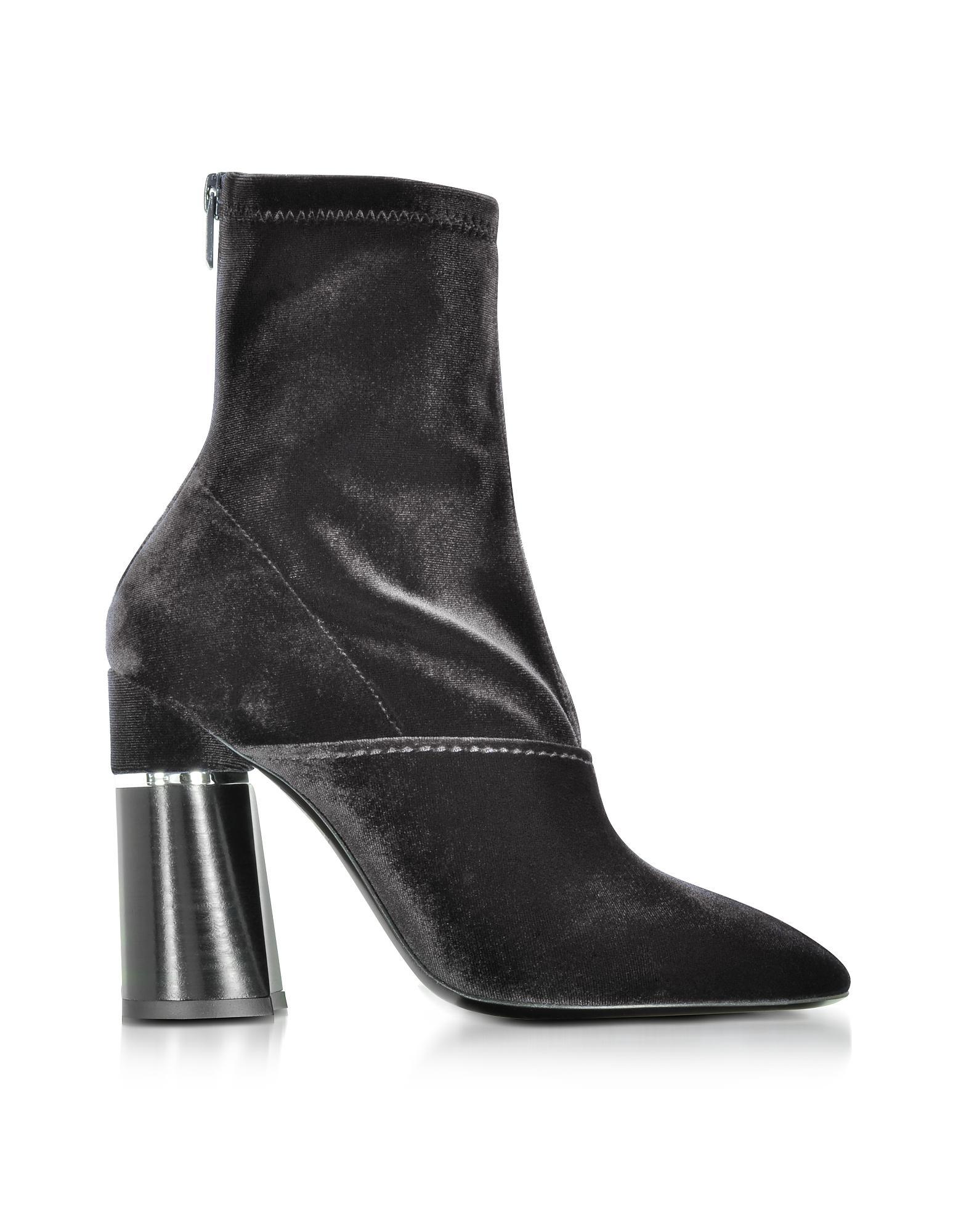3.1 Phillip Lim Shoes, Kyoto Velvet Stretch High Heel Ankle Boots