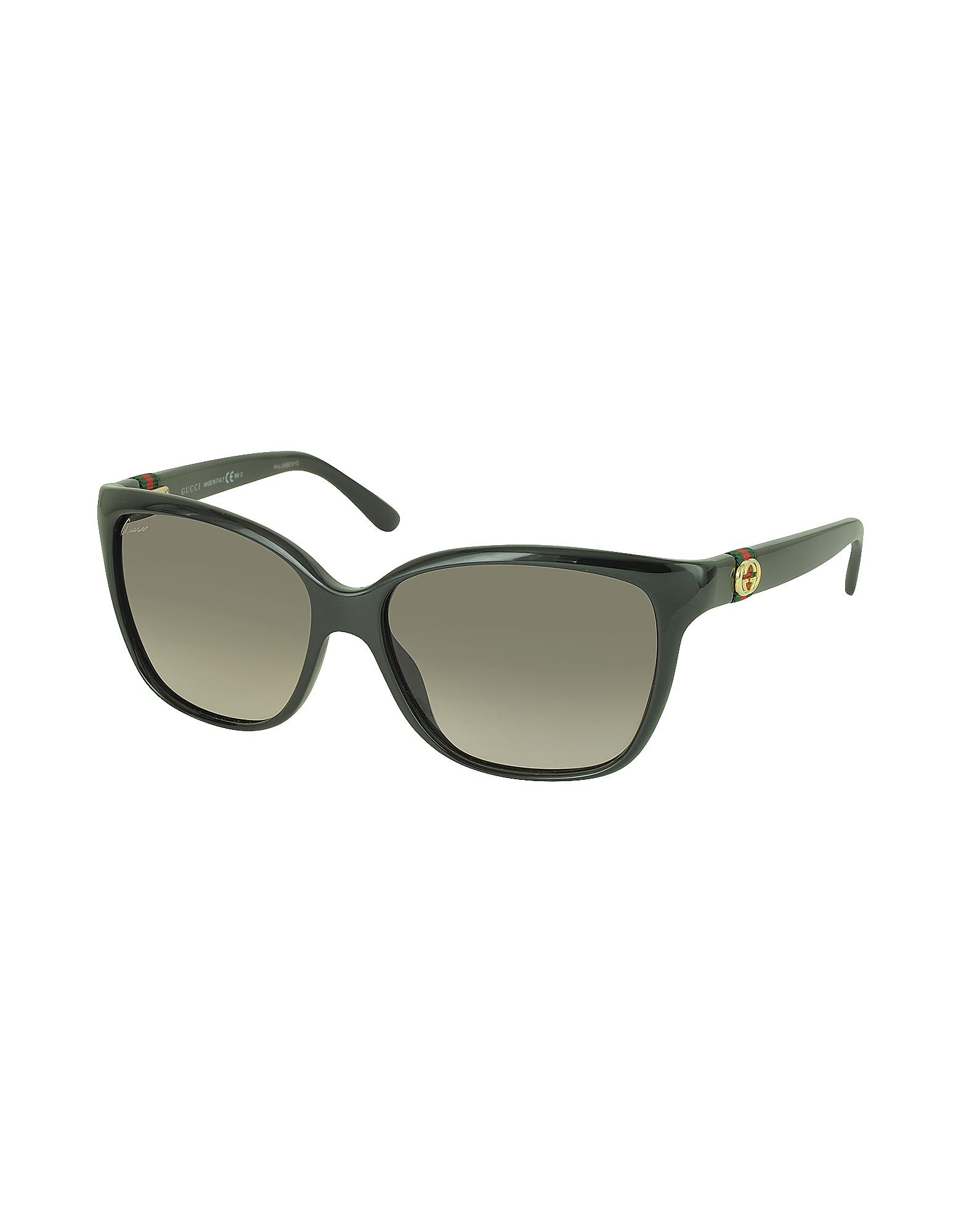 792fb9b23d0 Lyst - Gucci Gg 3645 s Shiny Cat-eye Women s Sunglasses in Black
