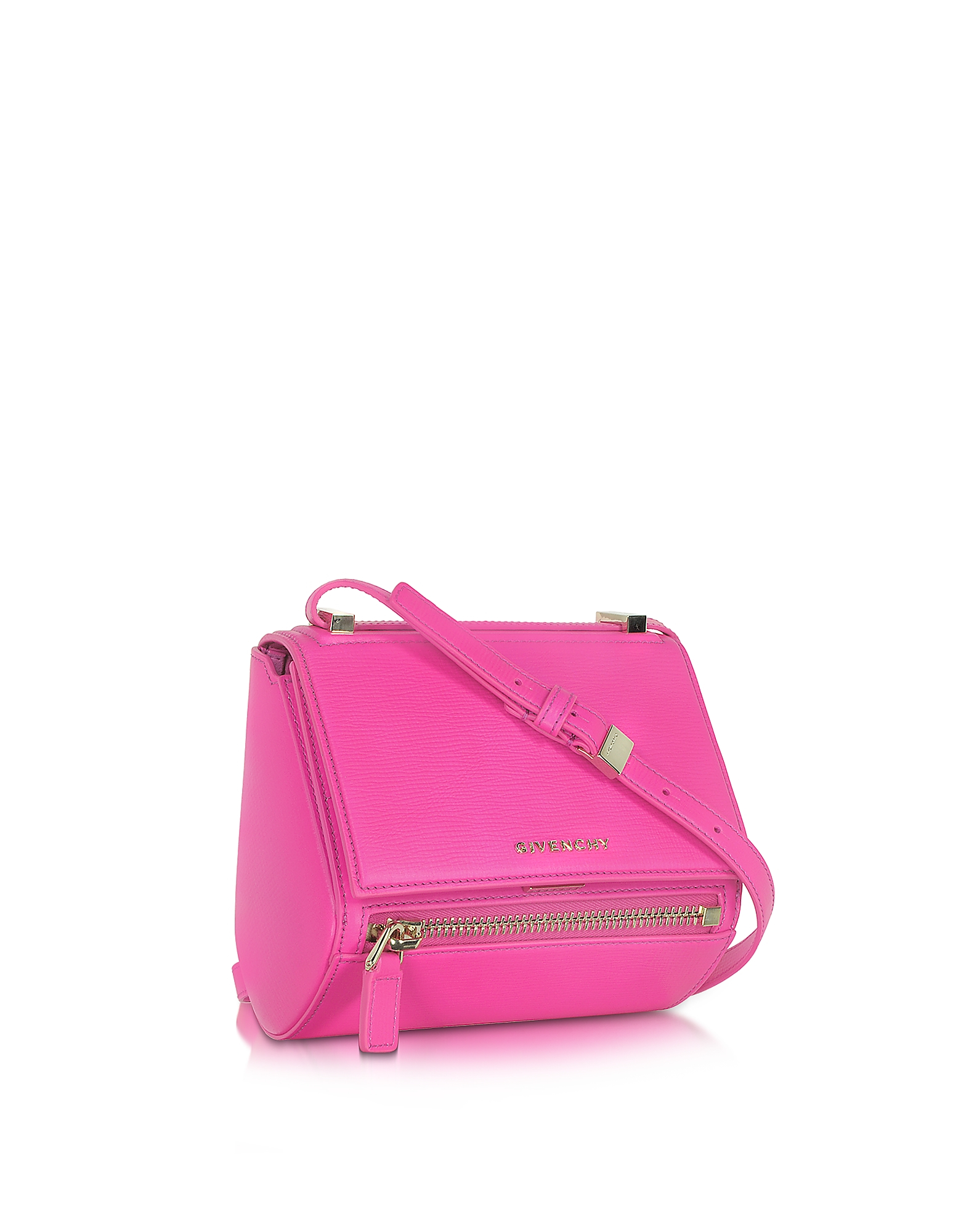b7ee21c43f0bf Lyst - Givenchy Pandora Shocking Pink Leather Mini Box Bag in Pink
