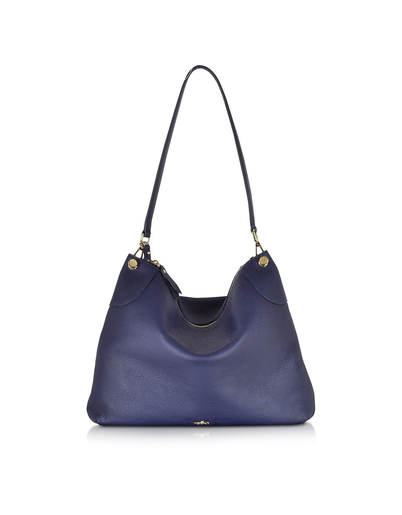 9409acbd9f Hogan Leather Hobo Bag in Blue - Lyst