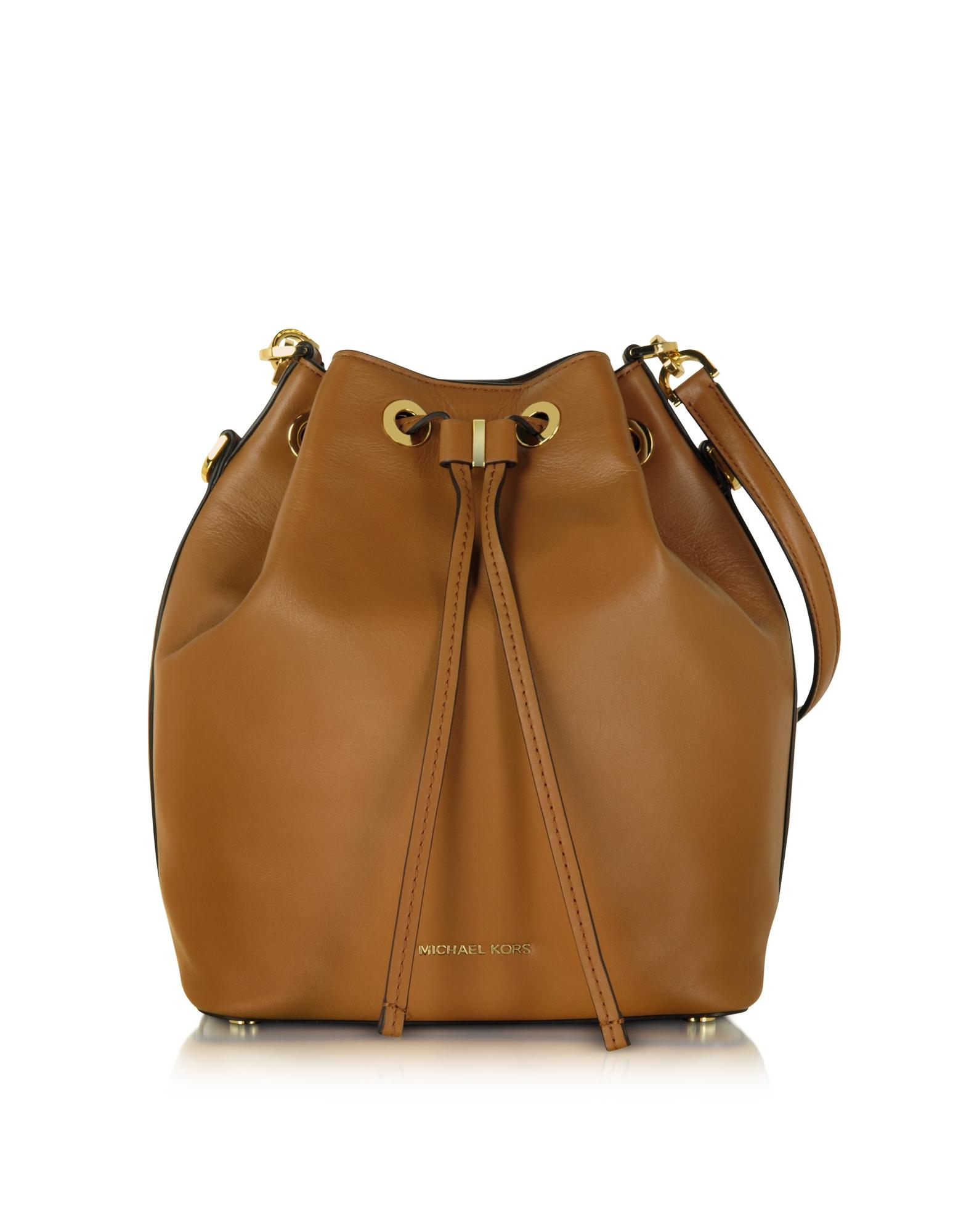 89cffe584c Lyst Michael Kors Dottie Acorn Large Bucket Bag In Brown