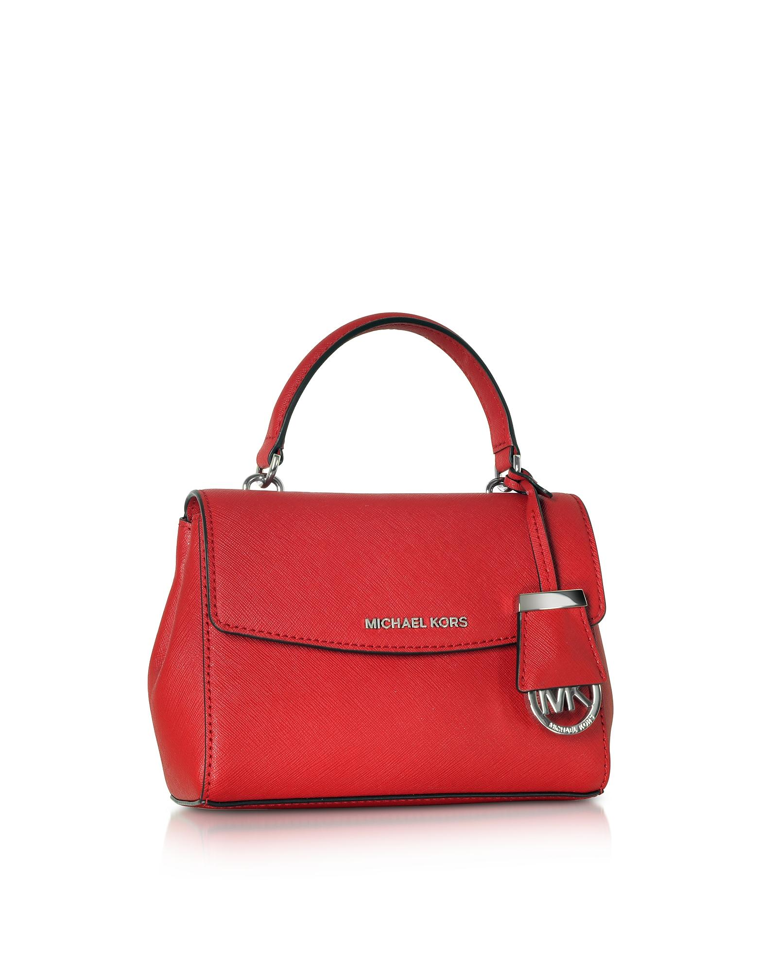 bc5044441006 Lyst - Michael Kors Ava Bright Red Saffiano Leather Xs Crossbody Bag ...