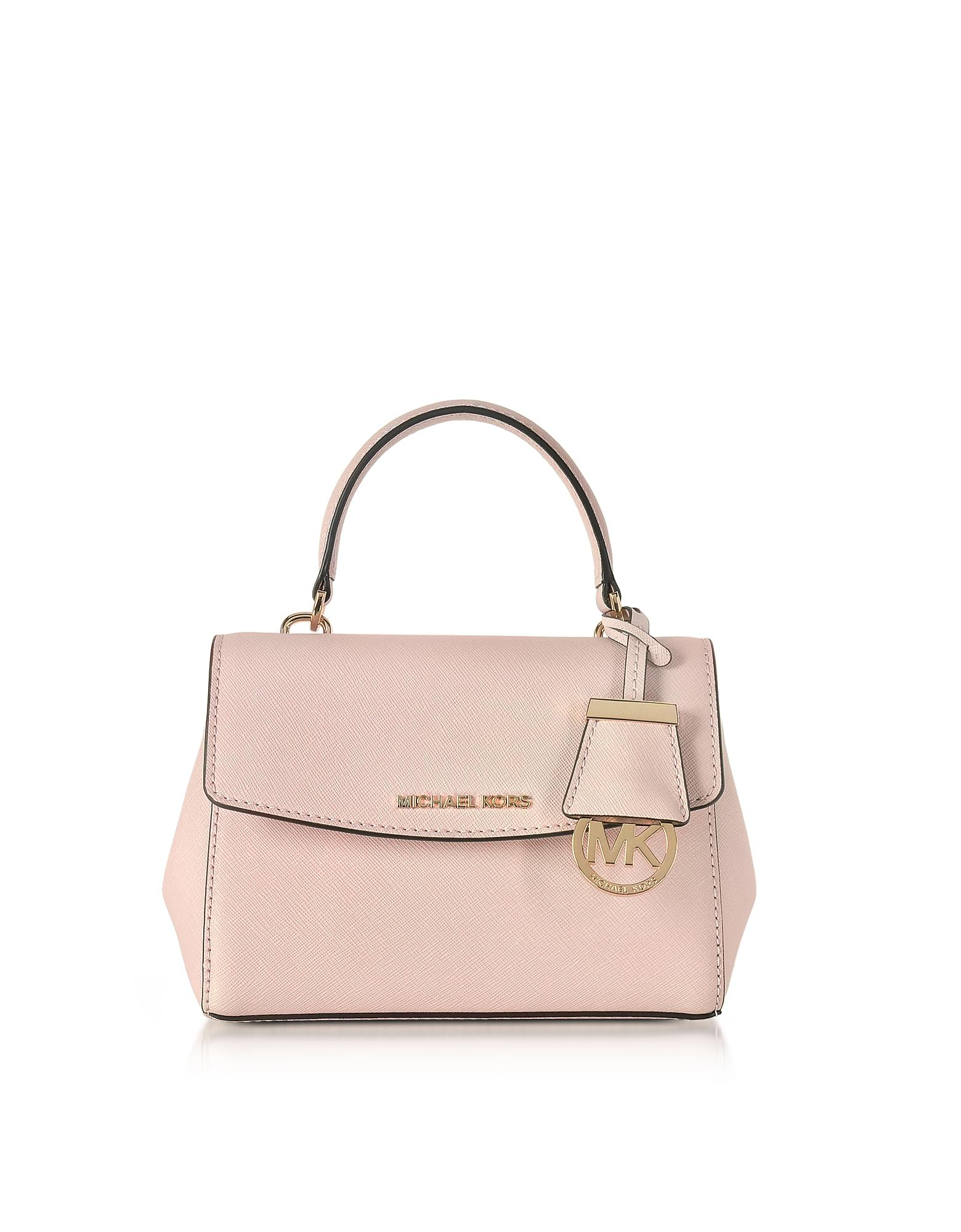 492567e06ba0 Michael Kors Ava Soft Pink Saffiano Leather Xs Crossbody Bag in Pink ...