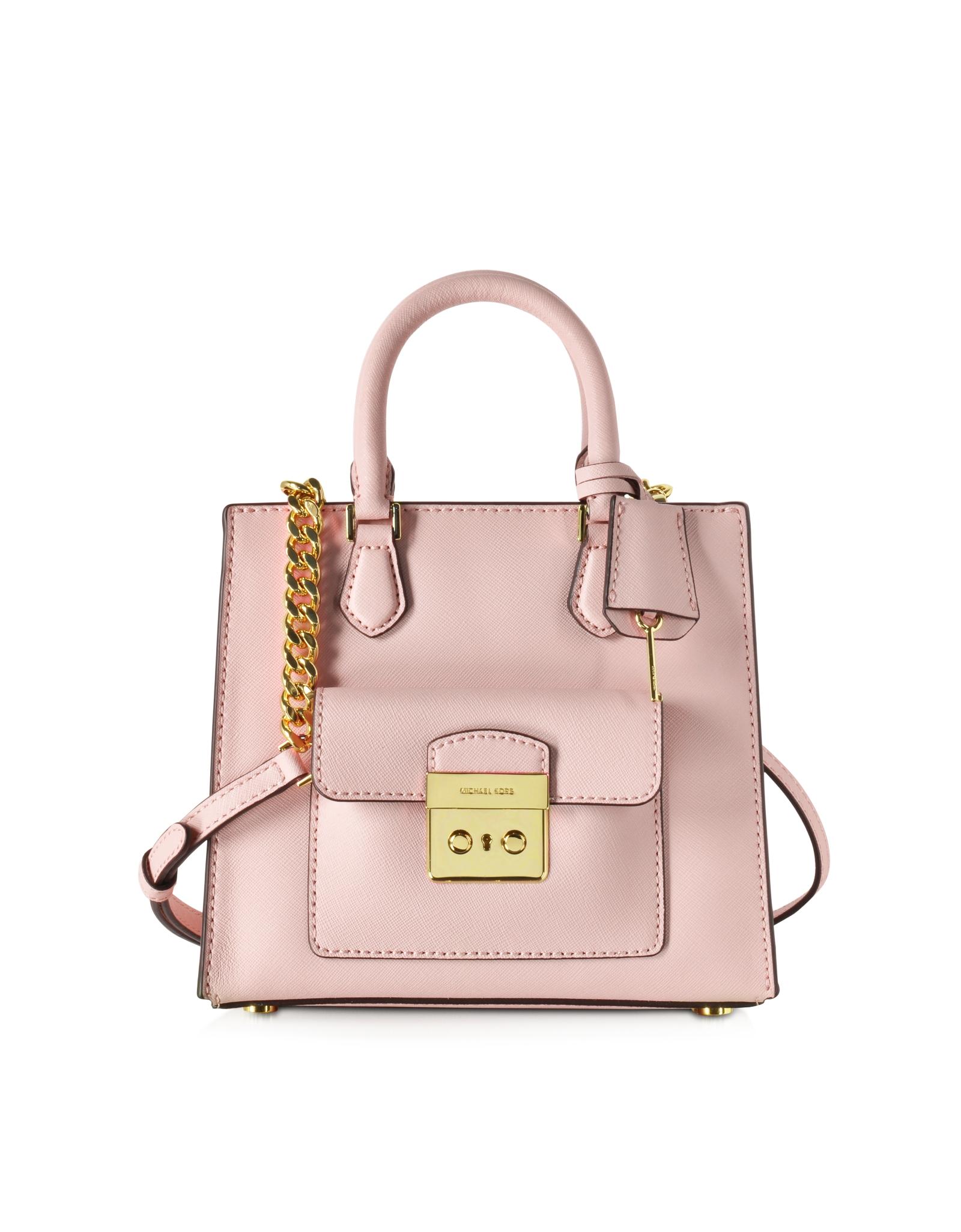 0ca83f0800a6 Michael Kors Bridgette Blossom Pink Saffiano Leather Small Ns ...