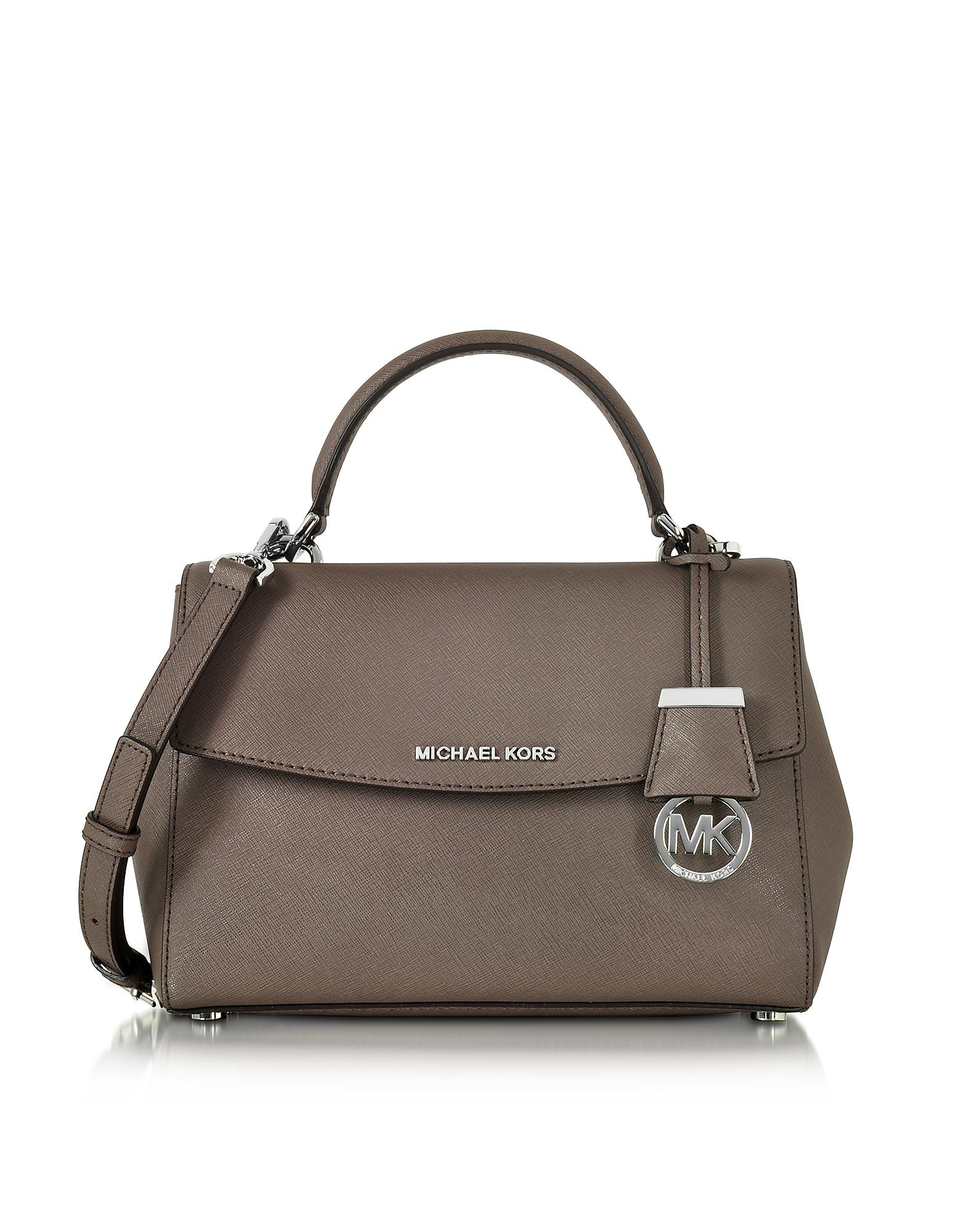 239ebc6a56bb Lyst - Michael Kors Ava Small Cinder Saffiano Leather Satchel Bag in ...