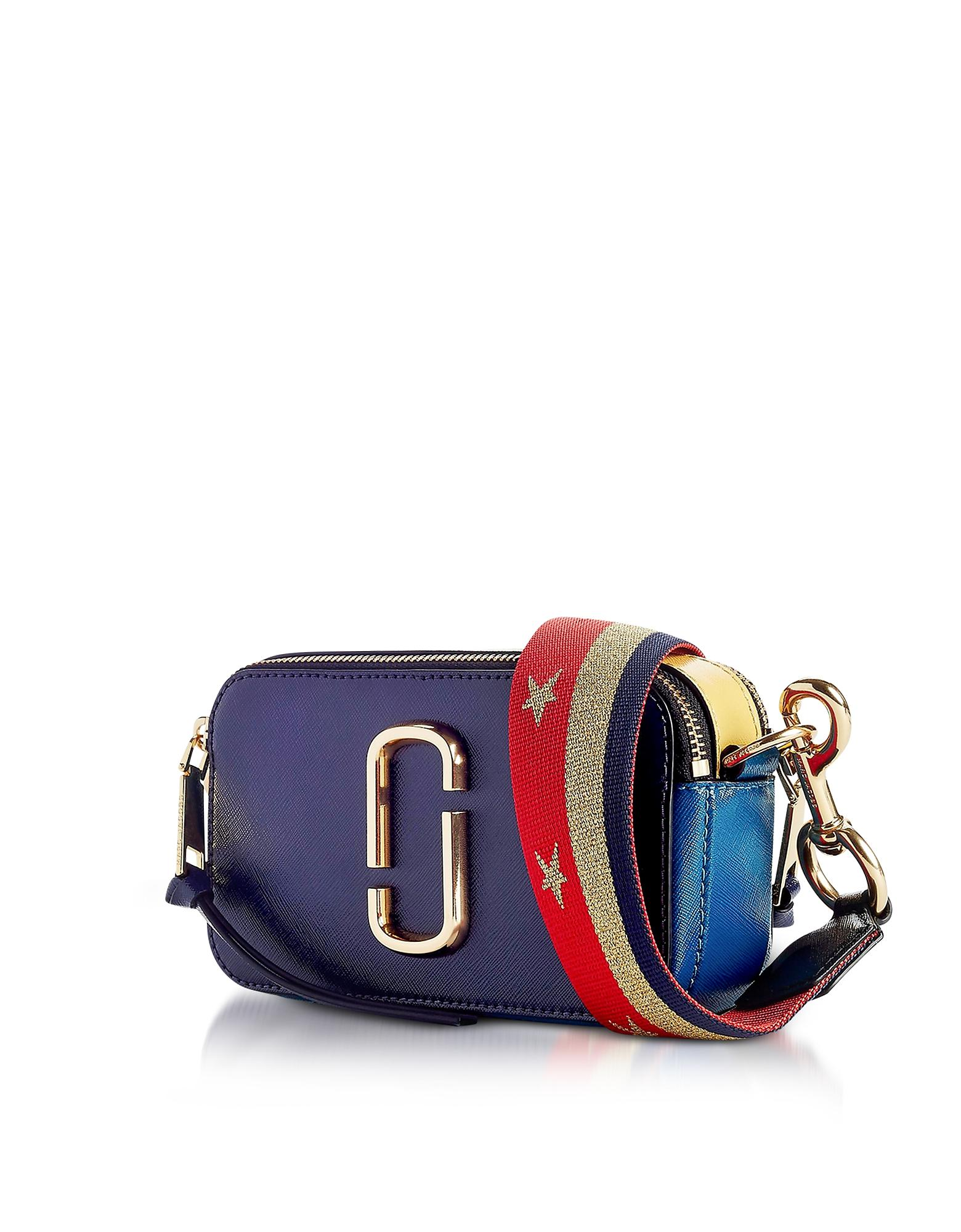 273c56e5031b Lyst - Marc Jacobs Midnight Blue Multi Snapshot Camera Bag in Blue