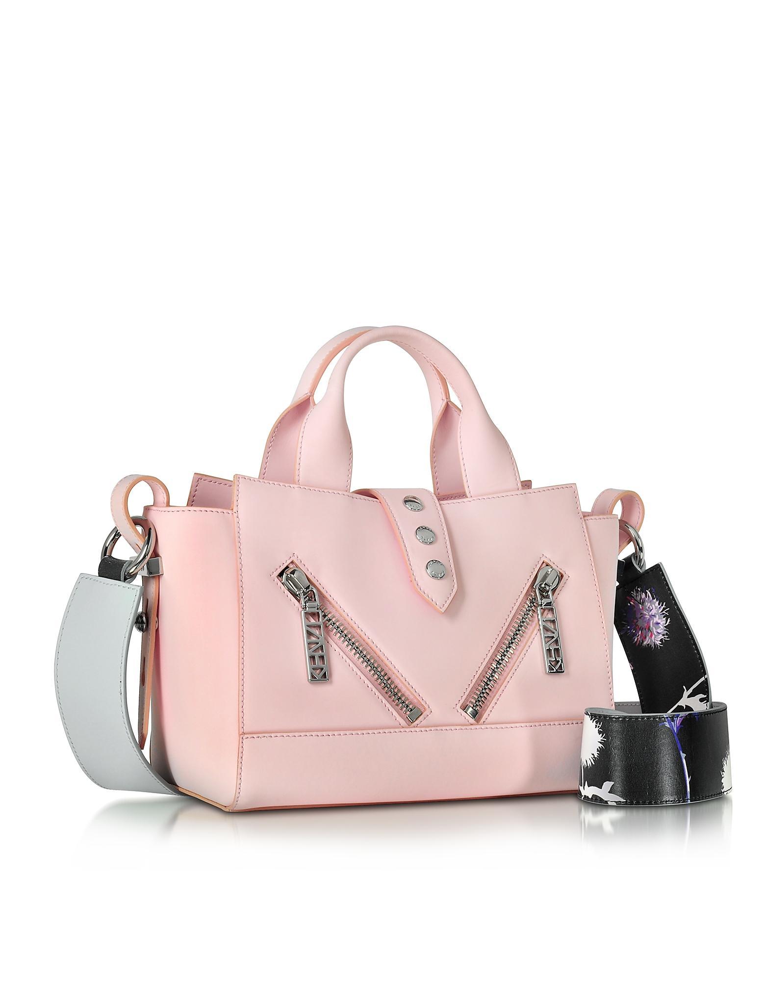 dba869b5962 KENZO Dandelion Mini Kalifornia Light Pink Gommato Leather Handbag ...