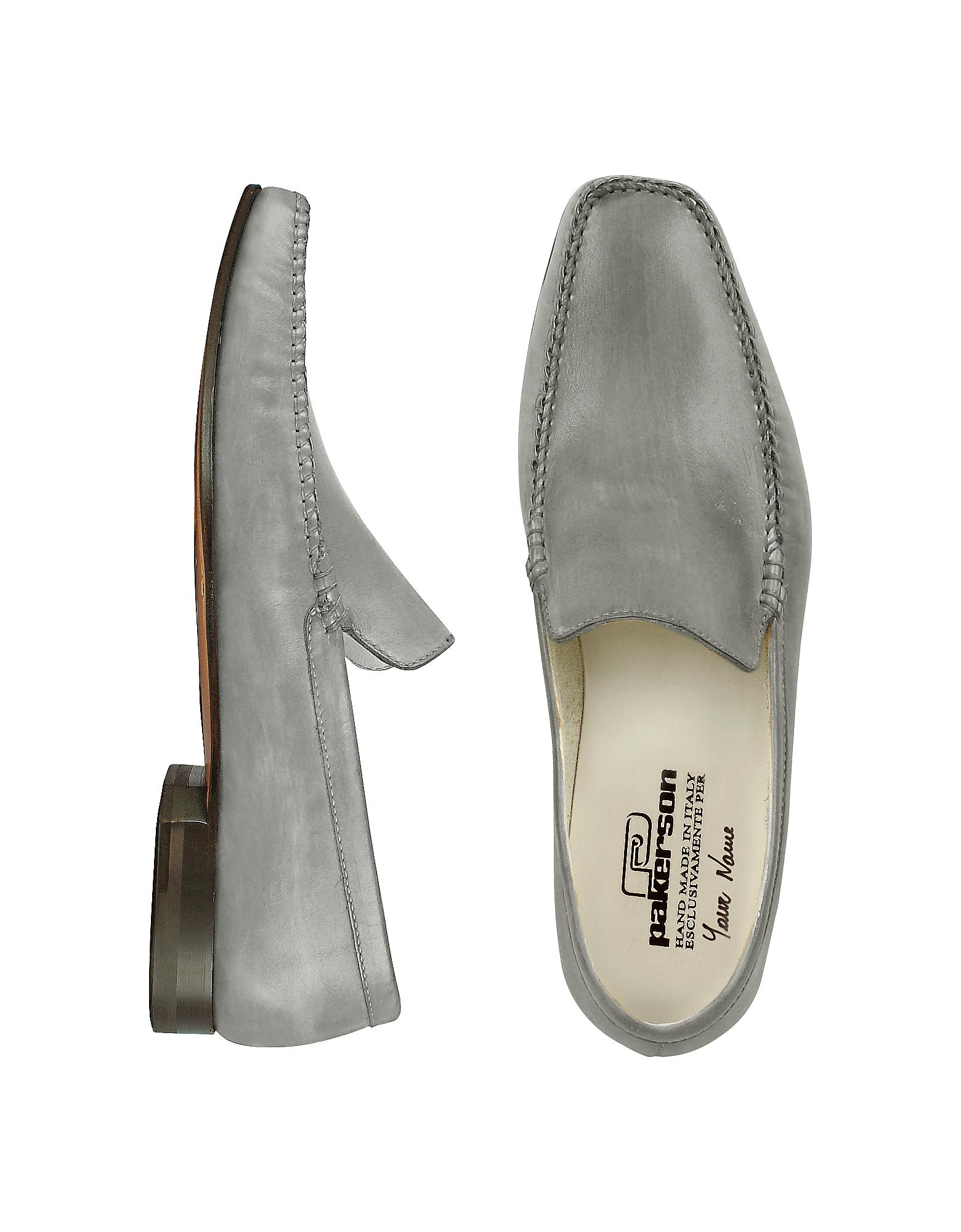 Pakerson Designer Shoes, Italian Handmade Leather Loafer Shoes