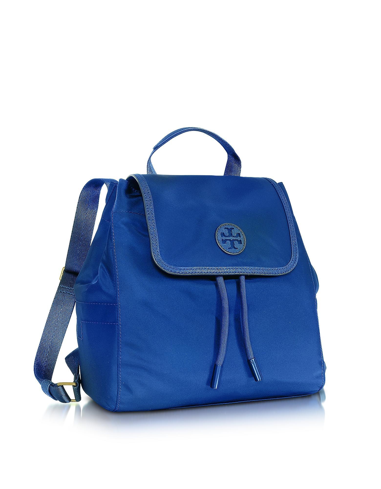 Lyst Tory Burch Scout Mini Nylon Backpack In Blue