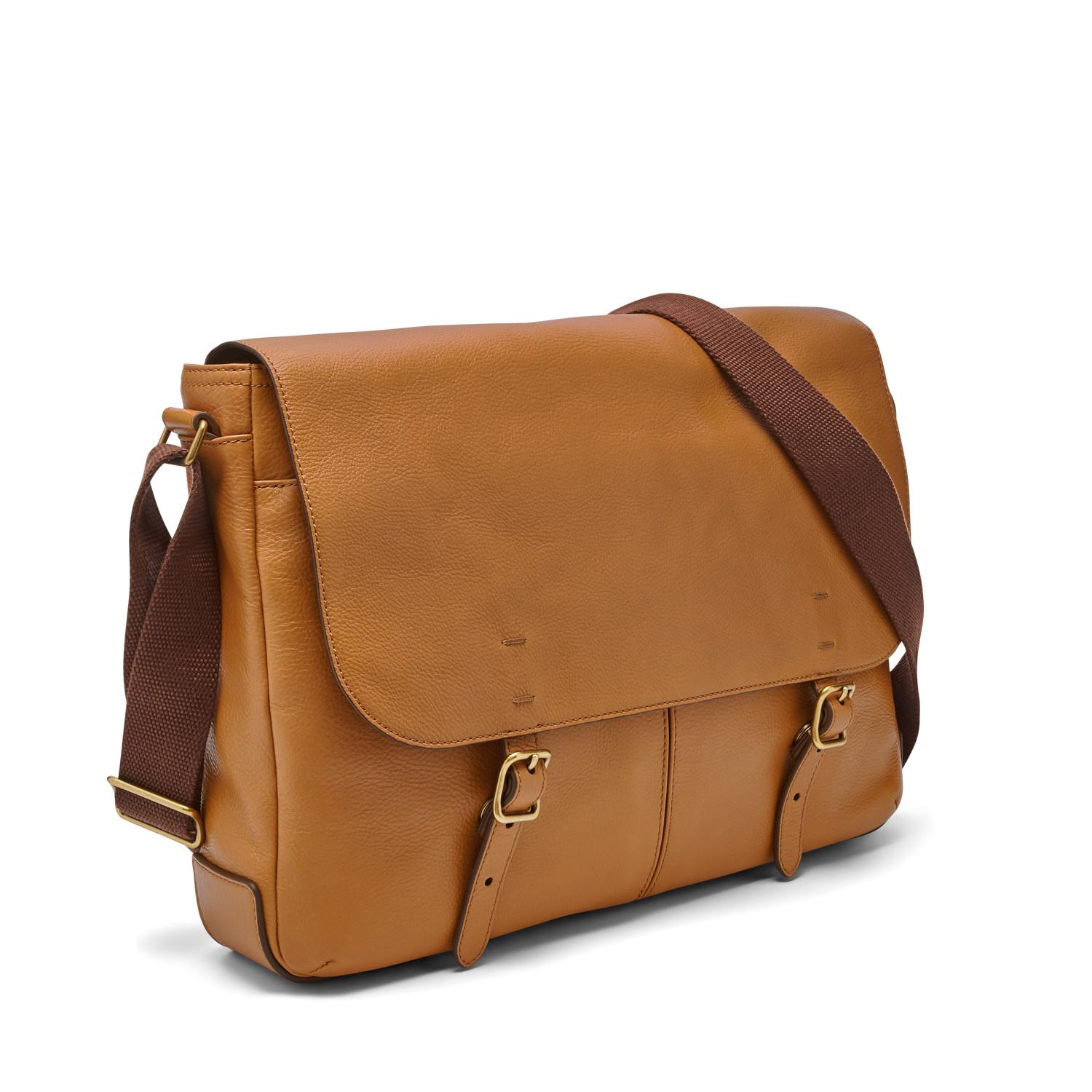 a52d2eeb481e Lyst - Fossil Buckner Messenger Bag Tan in Brown for Men