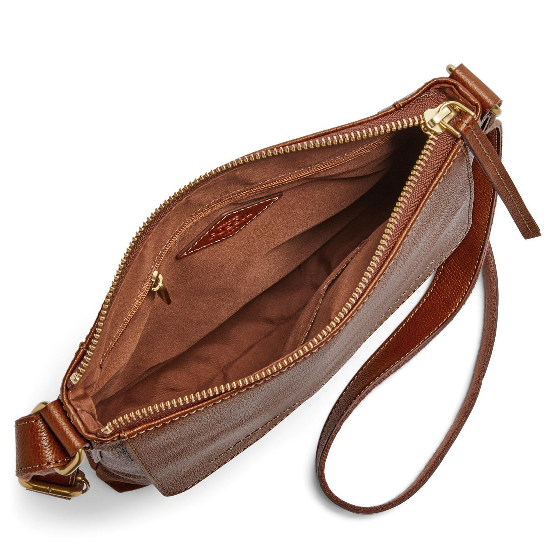22aa83f2cc7 Lyst - Fossil Amelia Top Zip Crossbody Handbags Brandy in Brown