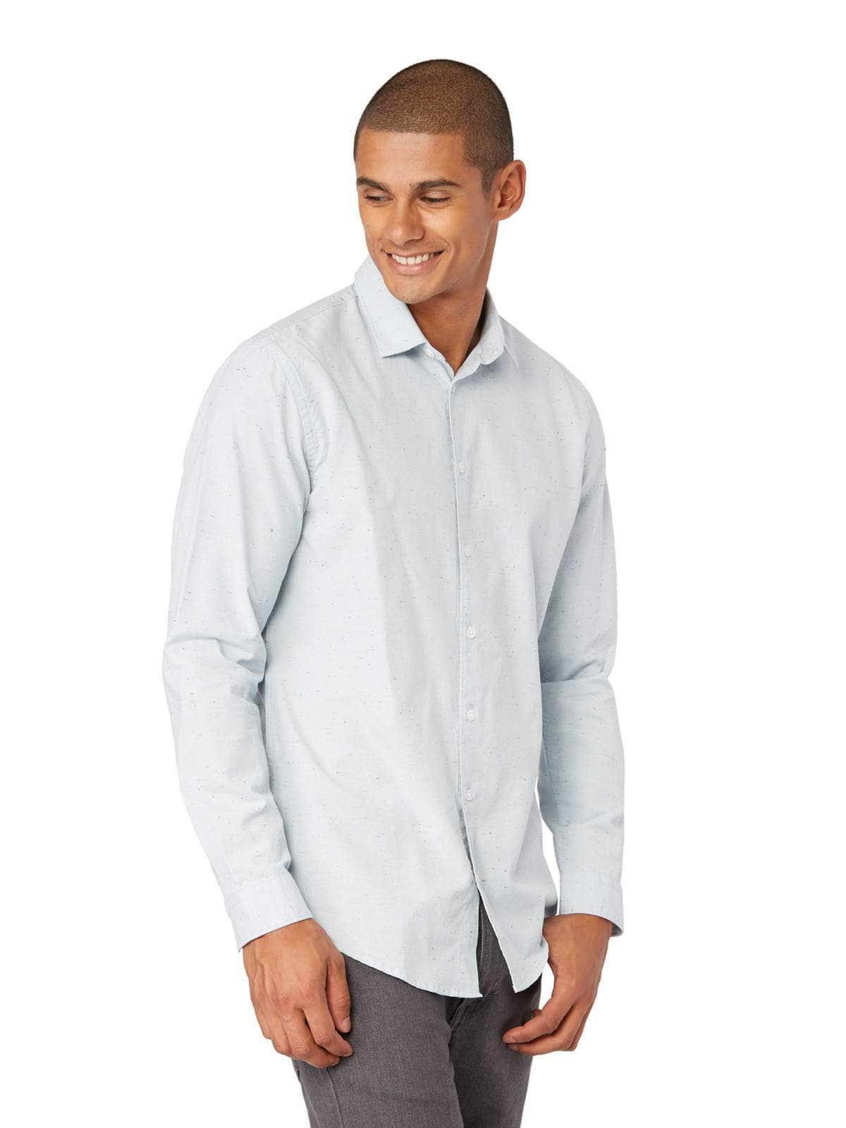 Lyst frank oak oxford shirt with neps in blue in blue for Frank and oak shirt