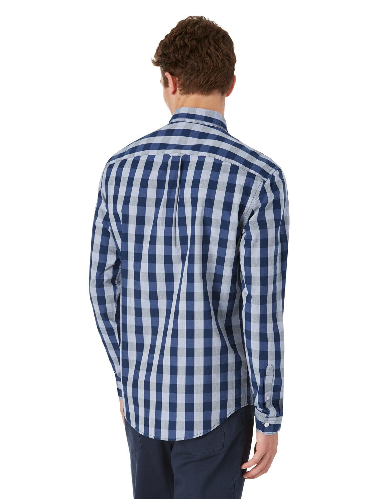Lyst frank oak medium gingham shirt in blue in blue for Frank and oak shirt
