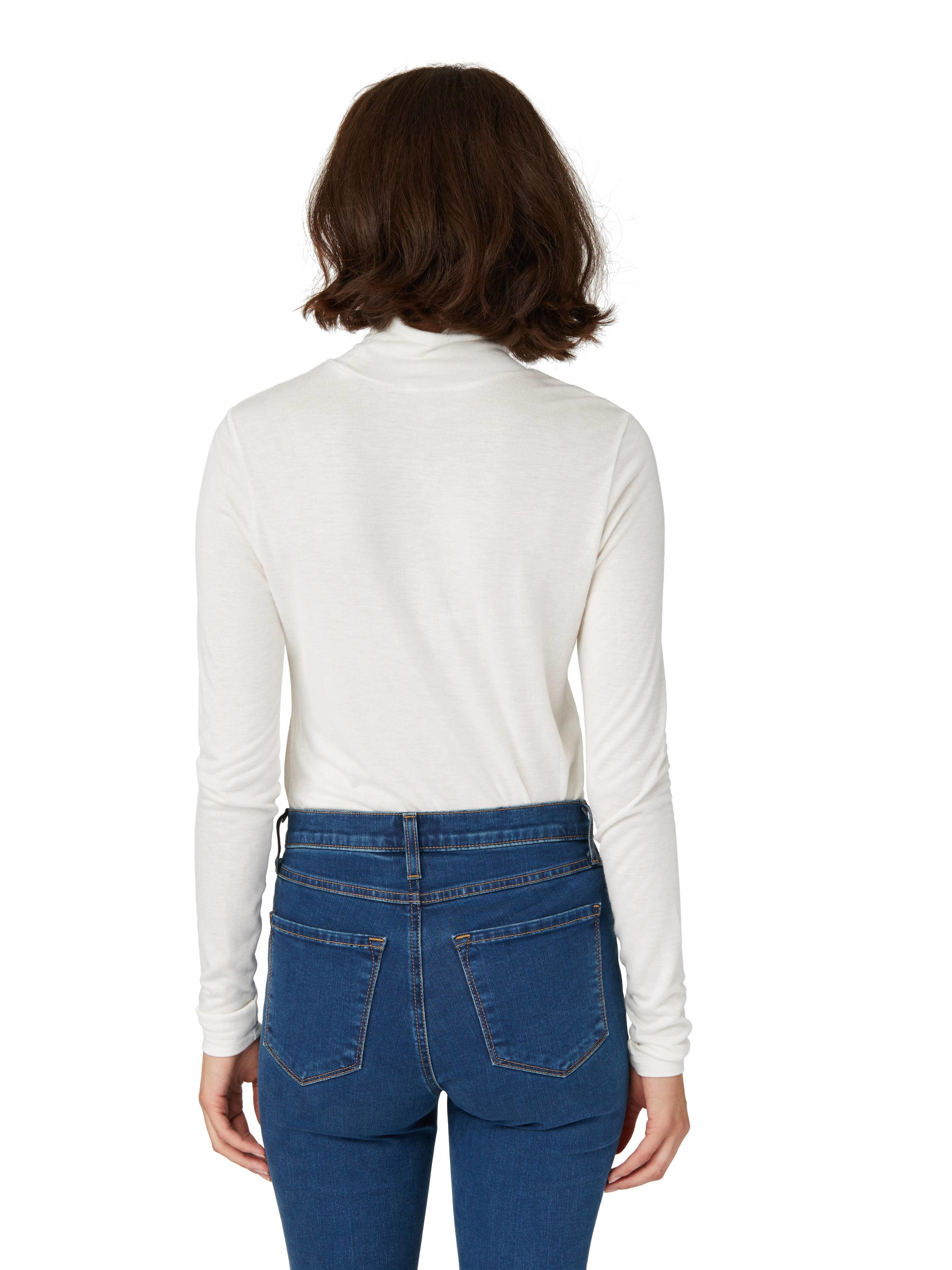 Frank oak the alex turtleneck in snow white in white lyst for Frank and oak shirt