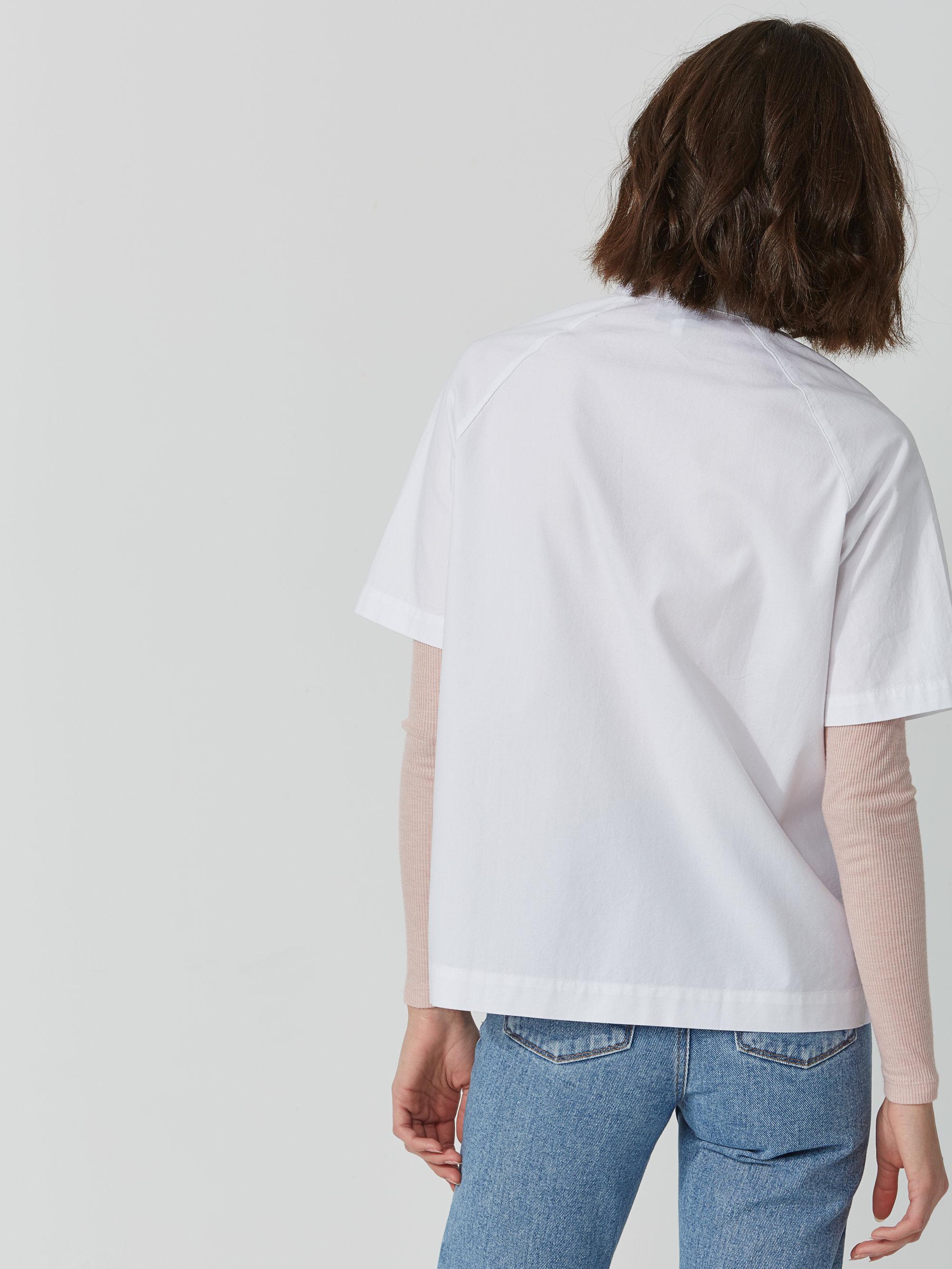 Frank and oak midi oxford shirt in bright white in white for Frank and oak shirt