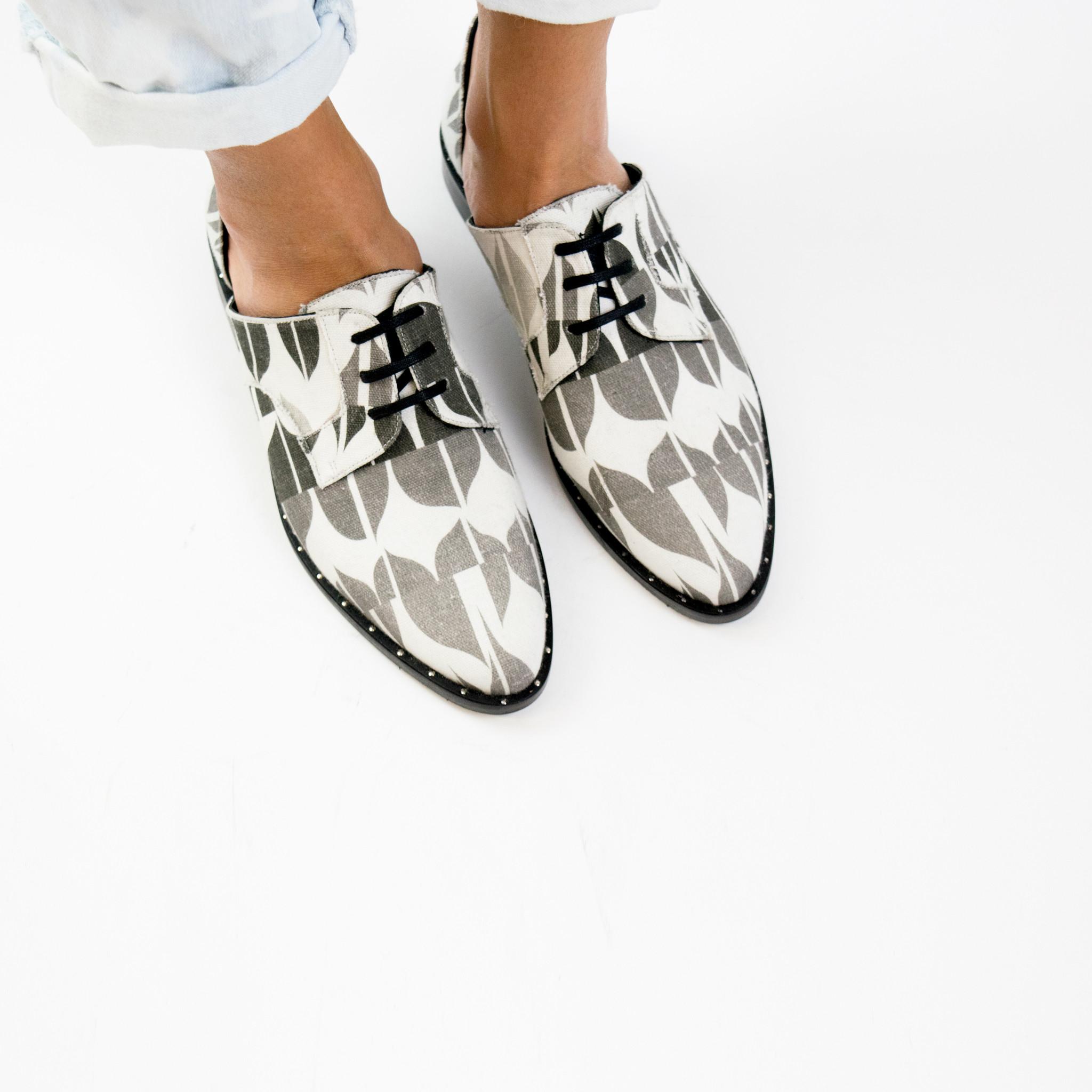 Women Canvas Oxford Shoes Printed