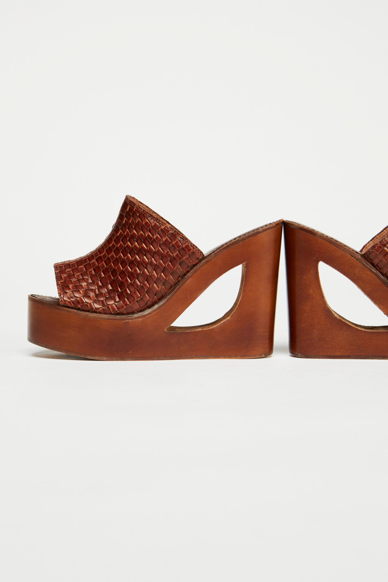 b12e21cebdb0 Lyst - Free People Barela Platform Wedge By Jeffrey Campbell in Brown