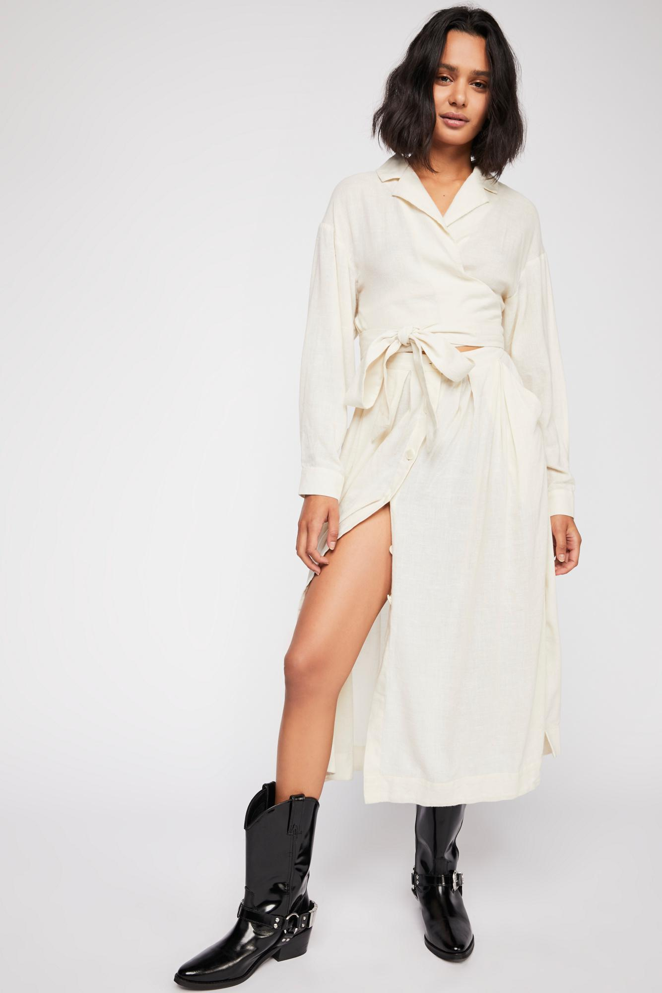 Free People Got Some Sun Midi Dress in White - Lyst 5d5b8b0e8db