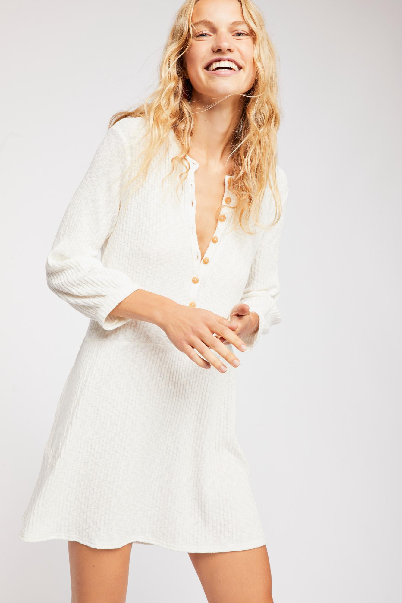 c4bdfe372a0 Free People - White Blossom Button-up T-shirt Dress By Fp Beach -. View  fullscreen