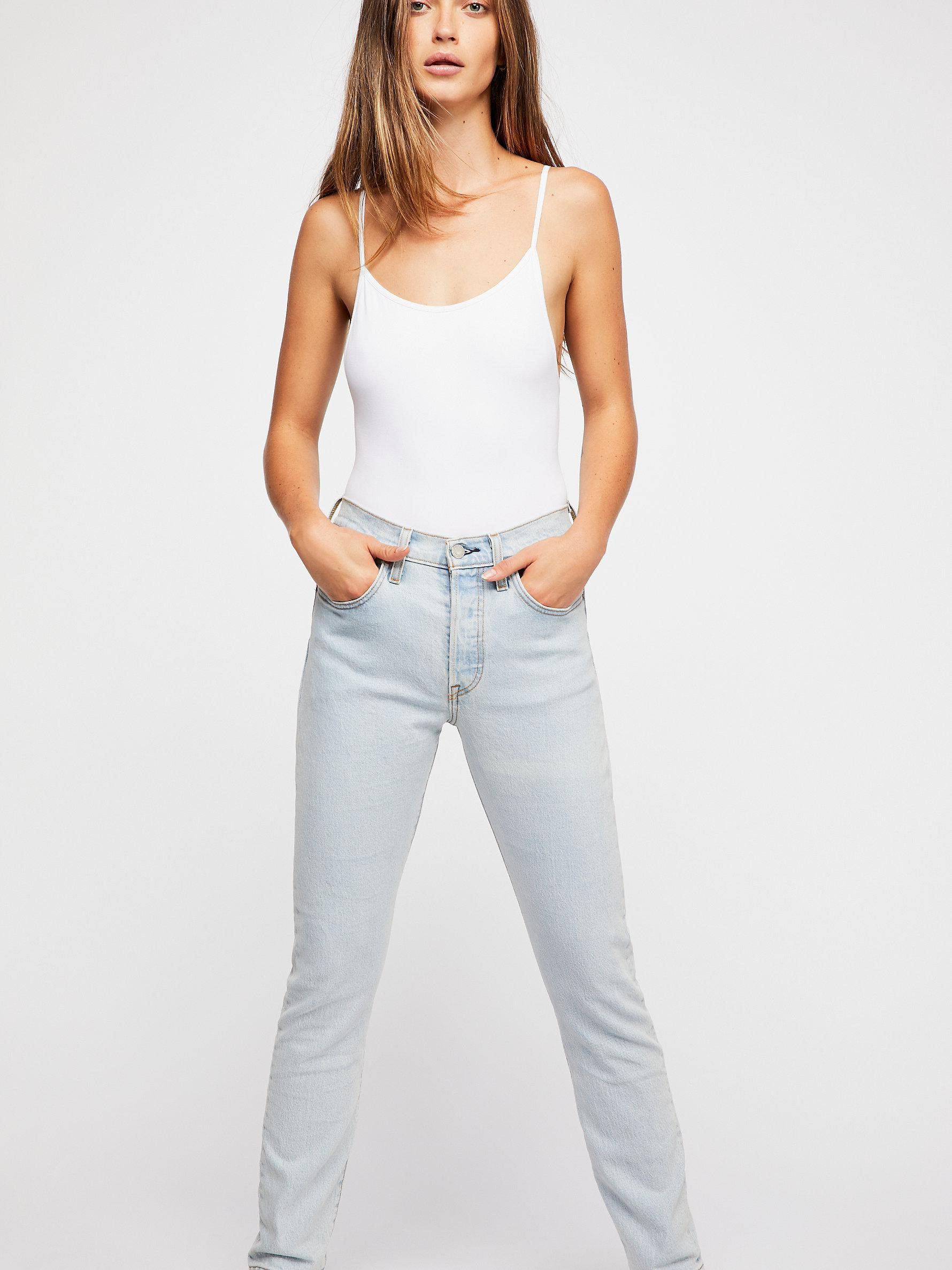 b74a55dd7dc Free People Levi's 501 Skinny Jeans in Blue - Lyst