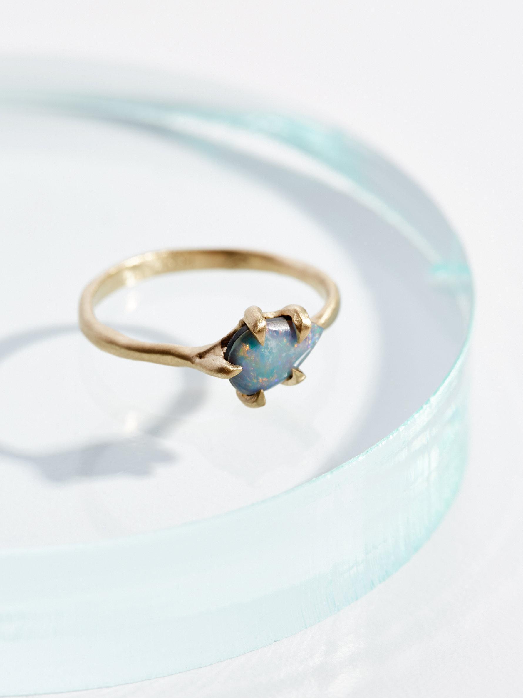 Lyst Free People 14k Sloan Raw Stone Ring