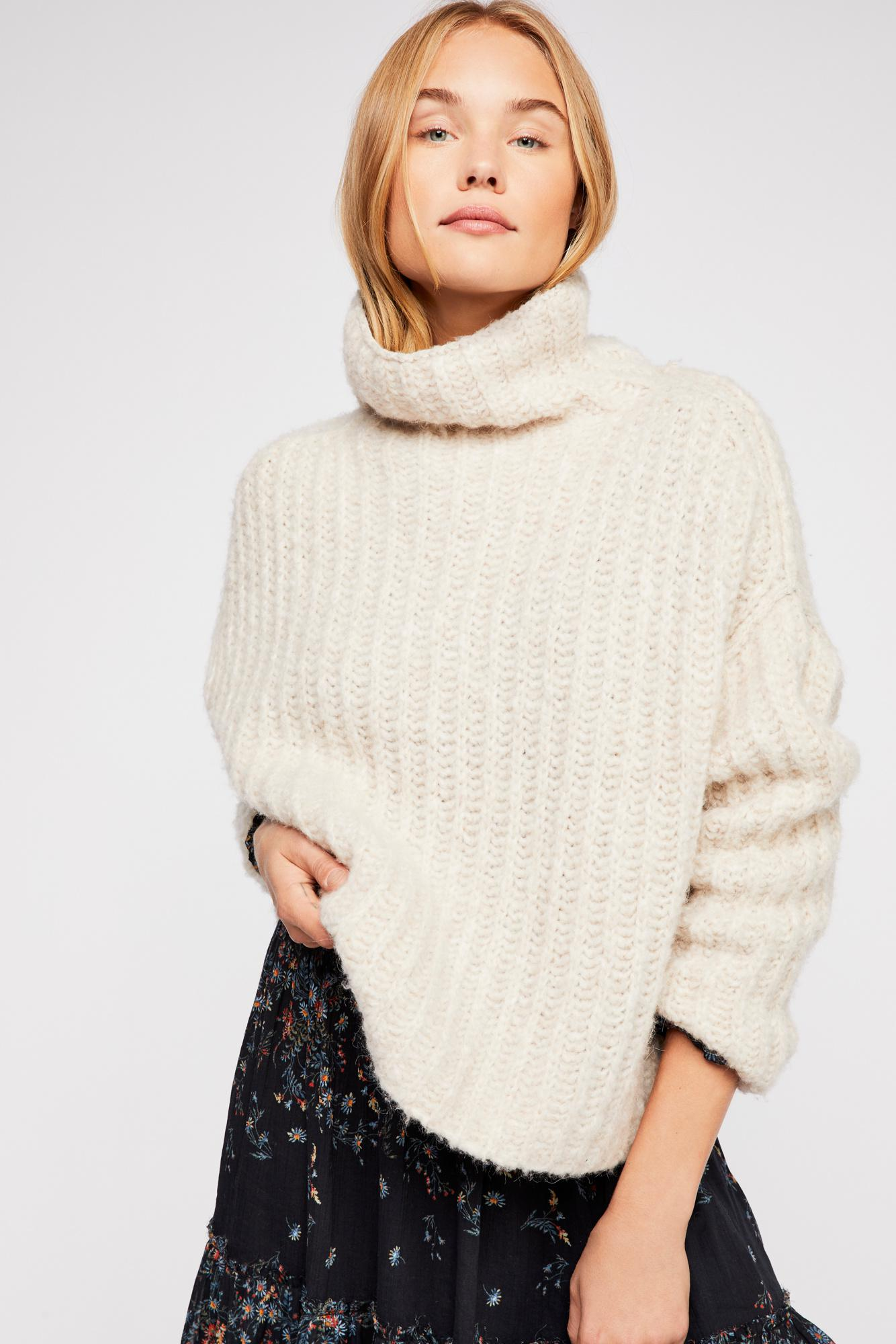 626d2830af1b6c Lyst - Free People Fluffy Fox Sweater in White