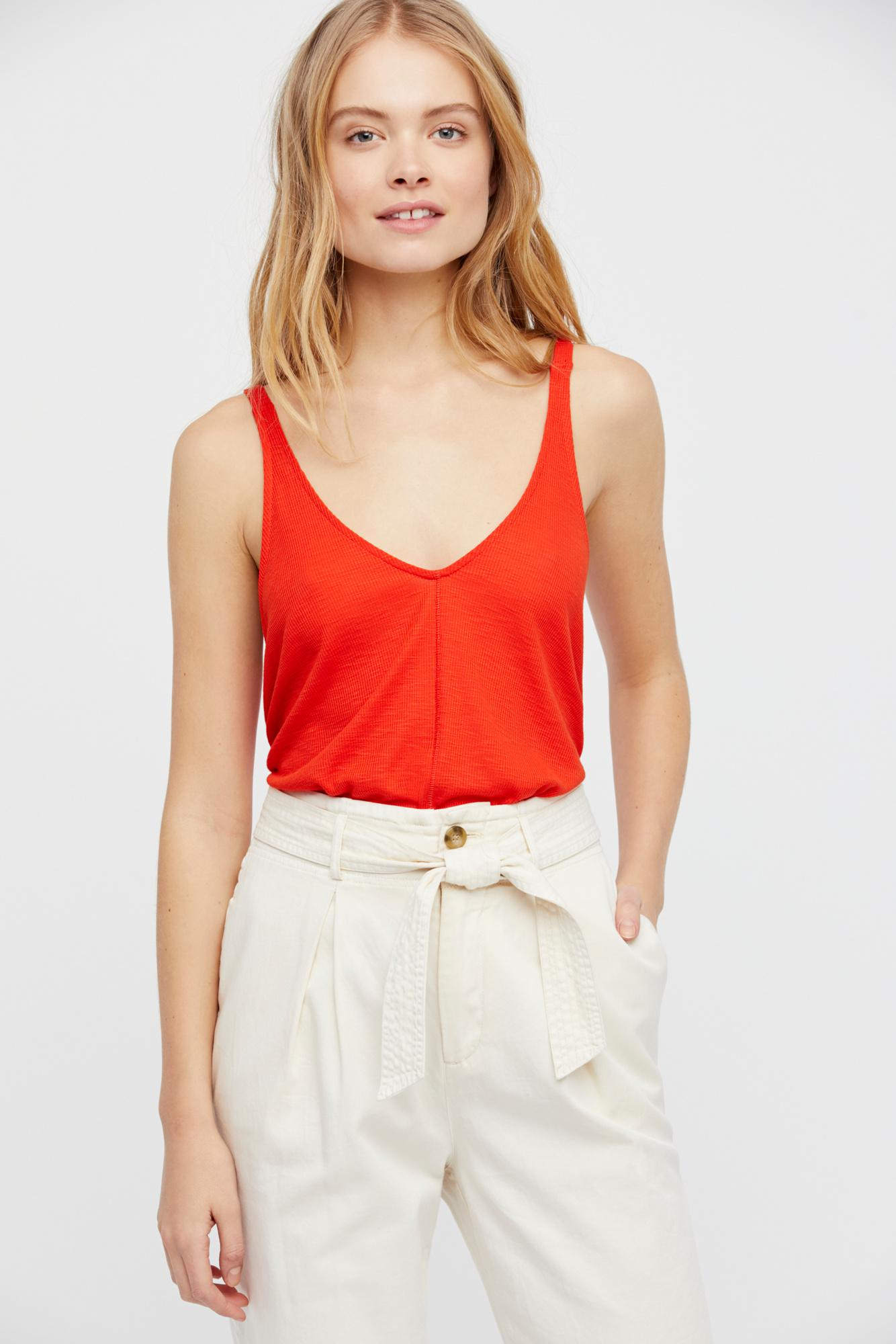 ce502845b81043 Free People Dani Tank By Intimately in Red - Lyst