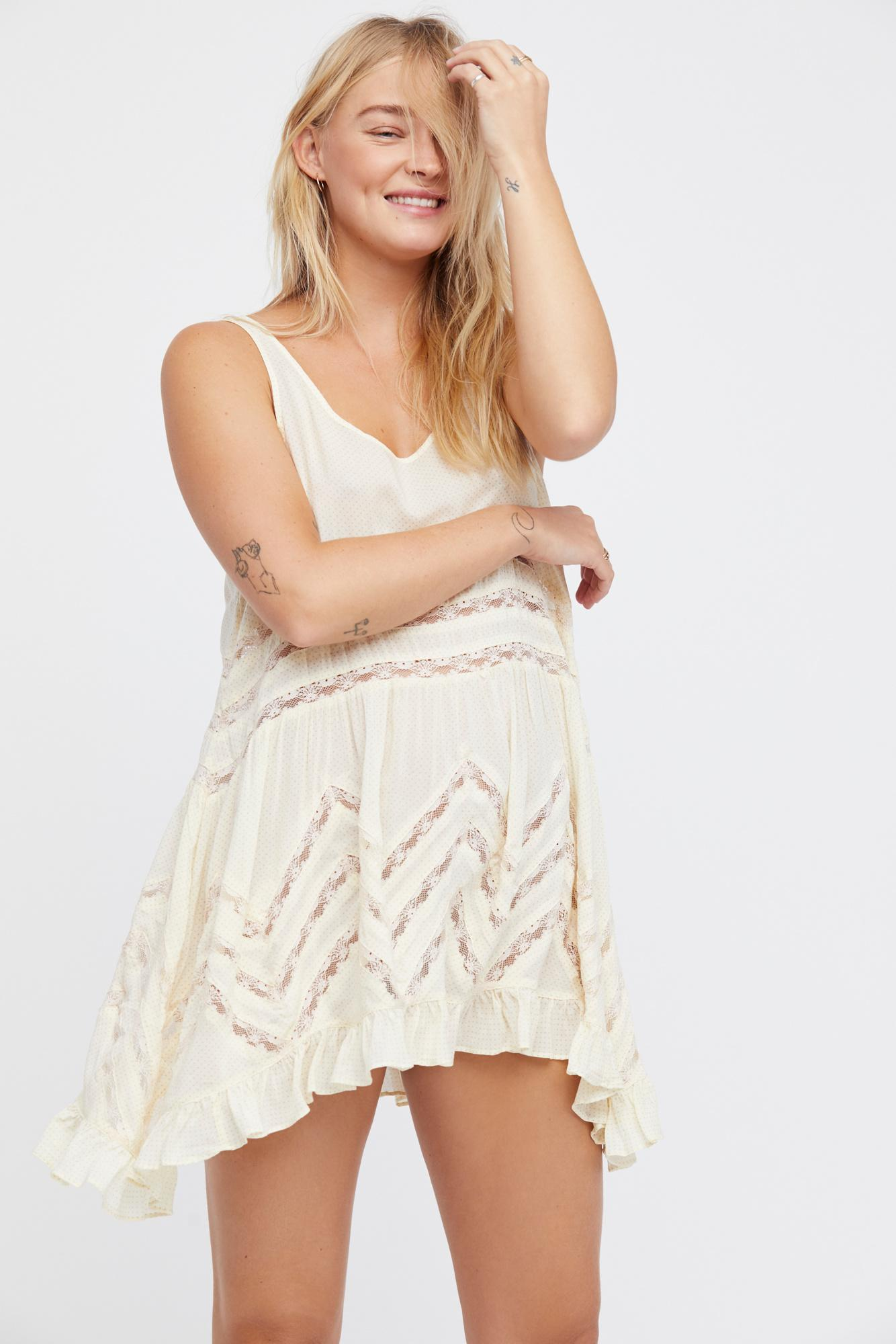 351074d06045 Lyst - Free People Voile And Lace Trapeze Slip By Intimately ...