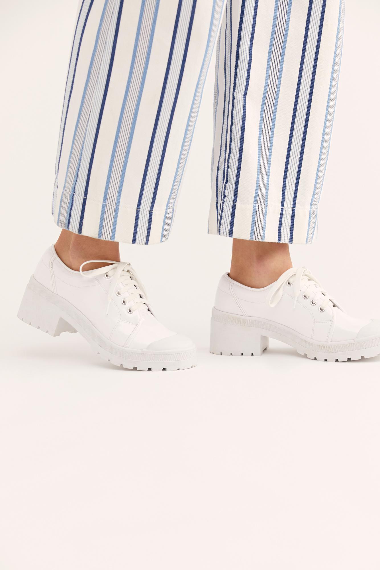 e51920dd8cd Lyst - Free People Courtney Sneaker By Jeffrey Campbell in White