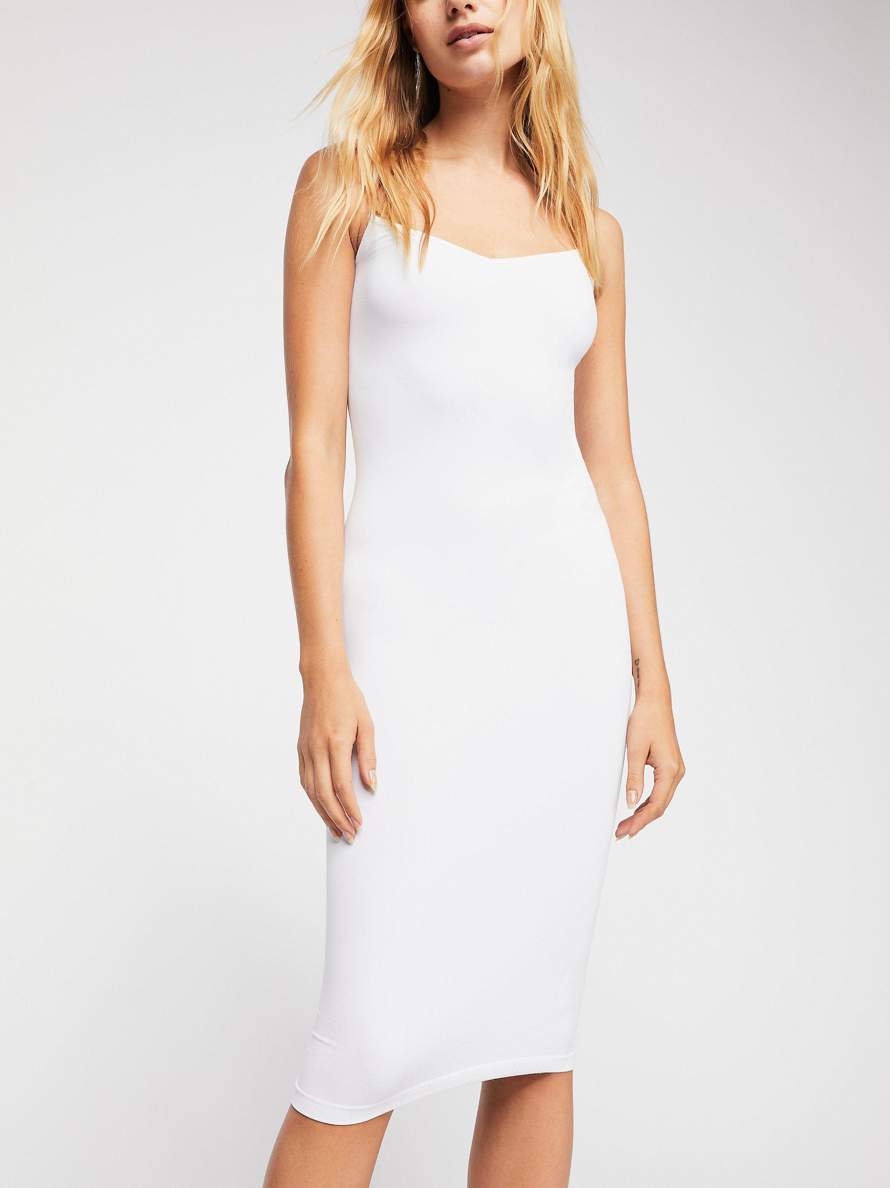69e3e95d0eec Free People Tea Length Seamless Slip By Intimately in White - Lyst