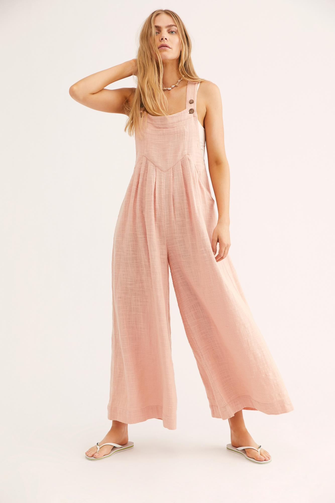 be9cc123c7 Free People Sundrenched Overalls By Endless Summer in Green - Lyst