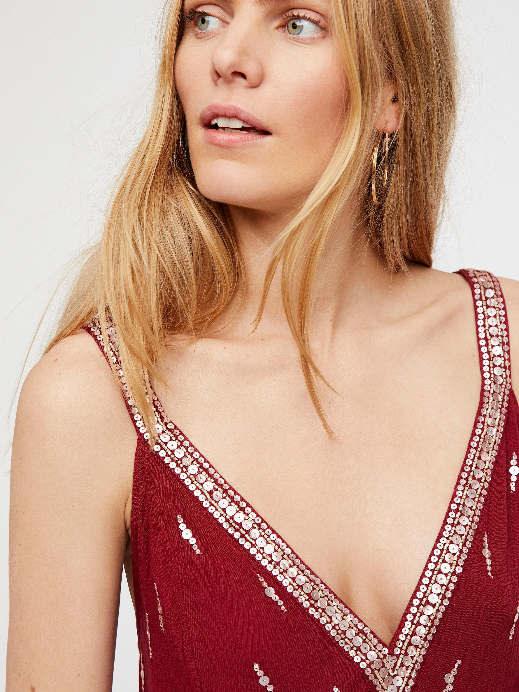 3c73440f105a Free People Rising Sun Slip in Red - Lyst