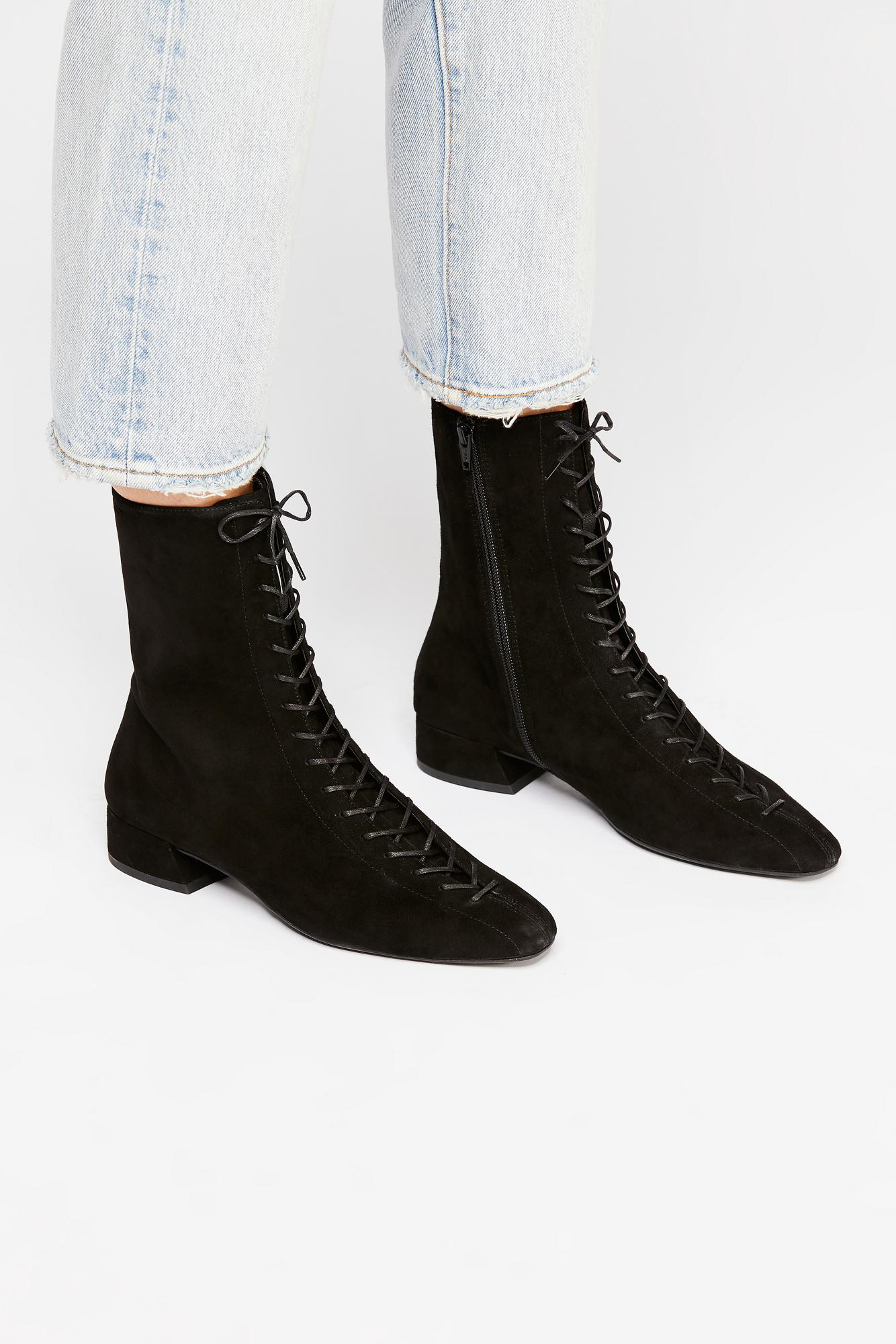 e81b1970eff Free People Joyce Lace Up Boot By Vagabond Shoemakers in Black - Lyst
