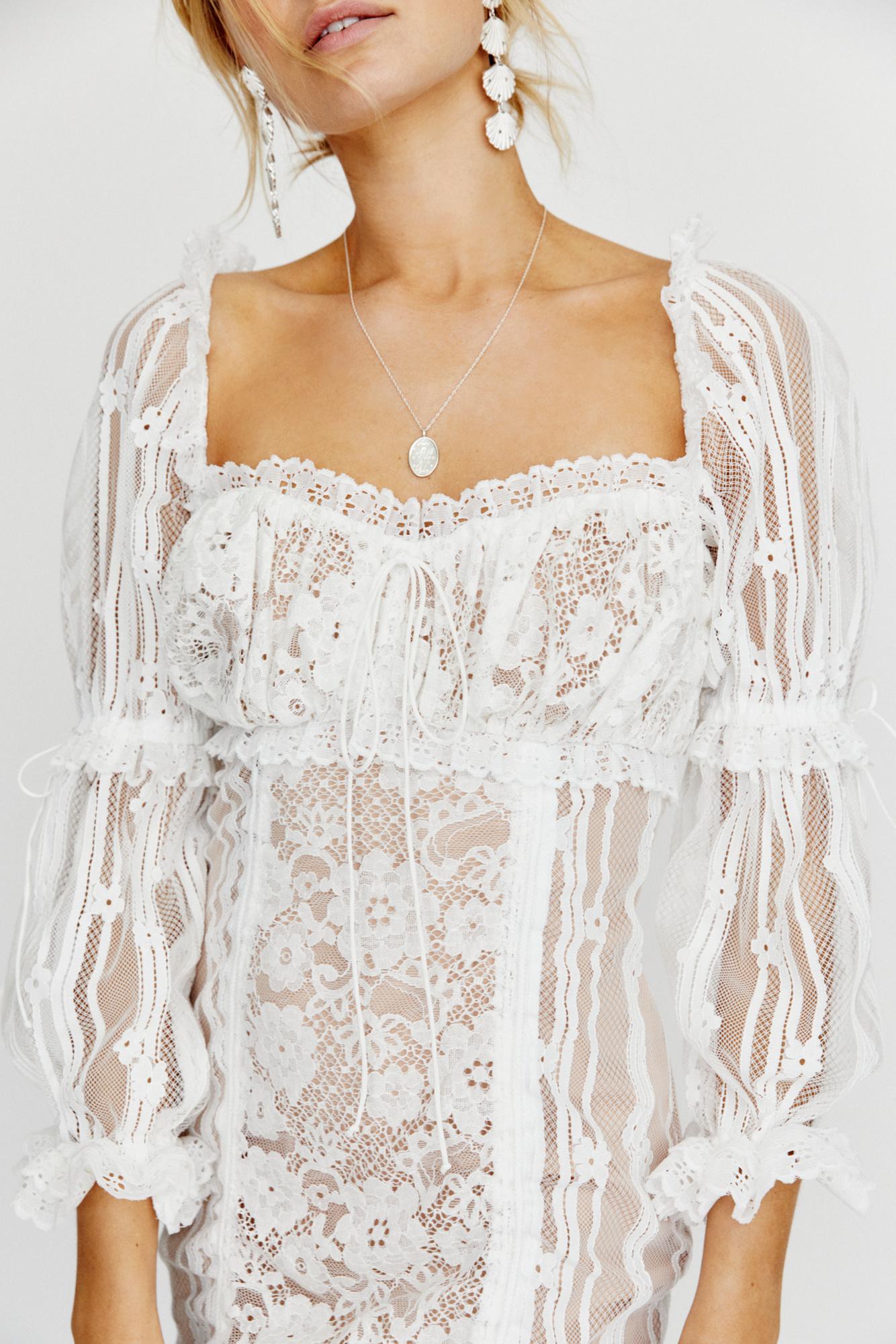 6dd937533b99 ... Monroe Mini Dress By For Love & Lemons - Lyst. View fullscreen