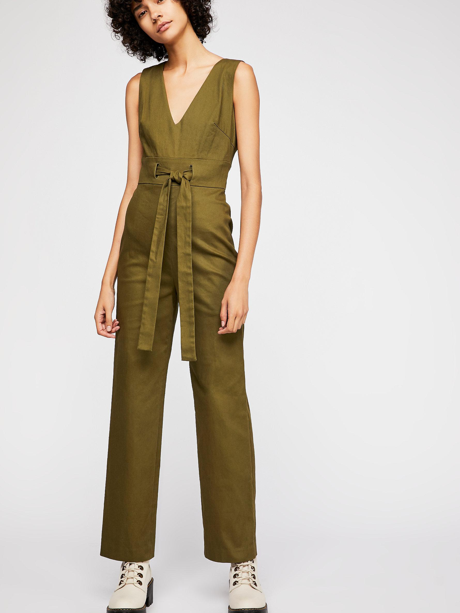 bf2e6c77516 Lyst - Free People Bethany Jumpsuit By Line   Dot in Green