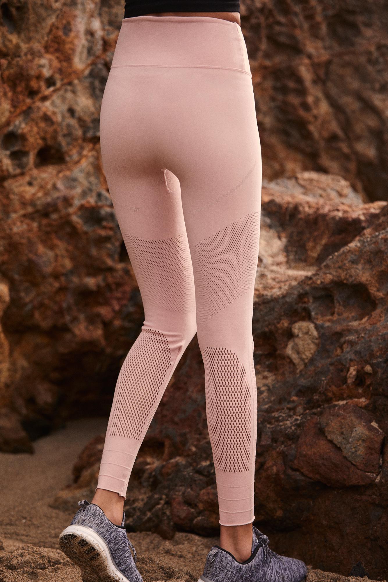 9dc16e99204ff Lyst - Free People High-rise Self-hem Sculpt Mesh Legging By Fp Movement