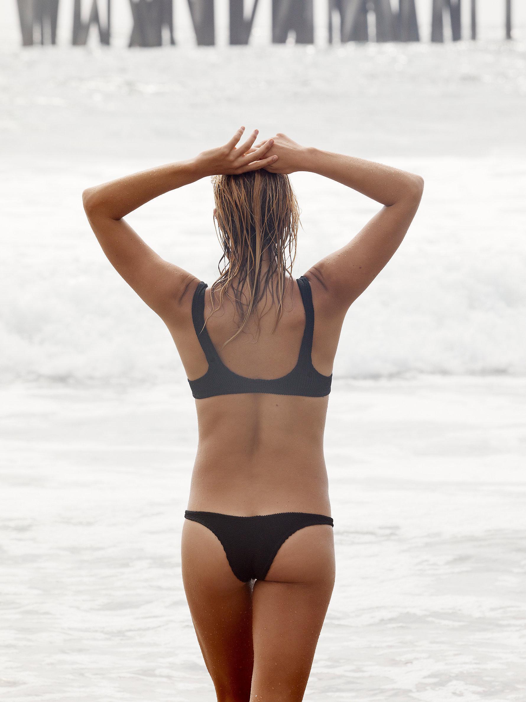 c5b2cfe9fd Lyst - Free People Brazil Scrunch Bikini Bottom in Black