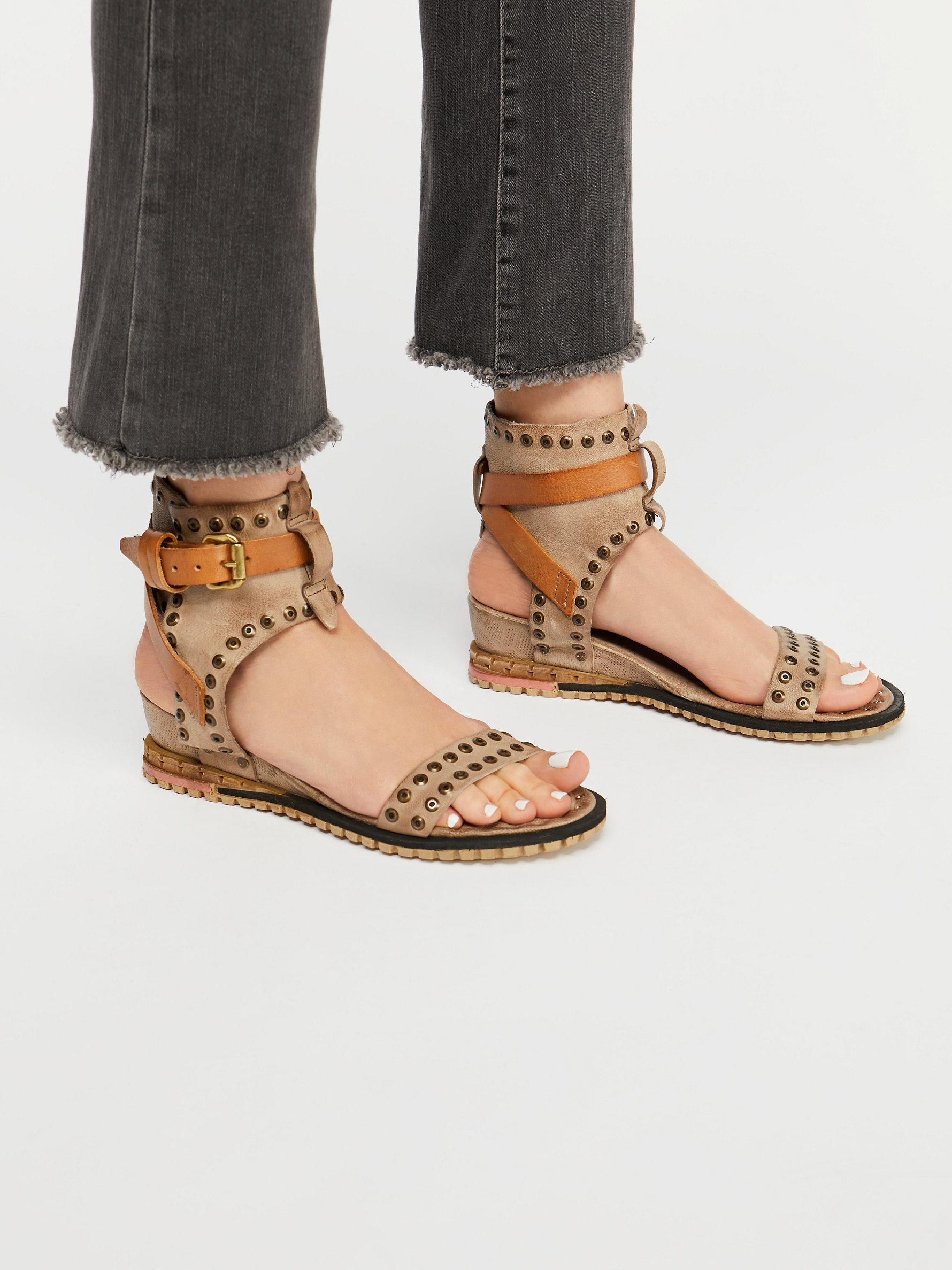2014d3a50c43 Free People Tessa Mini Wedge Sandal in Gray - Lyst