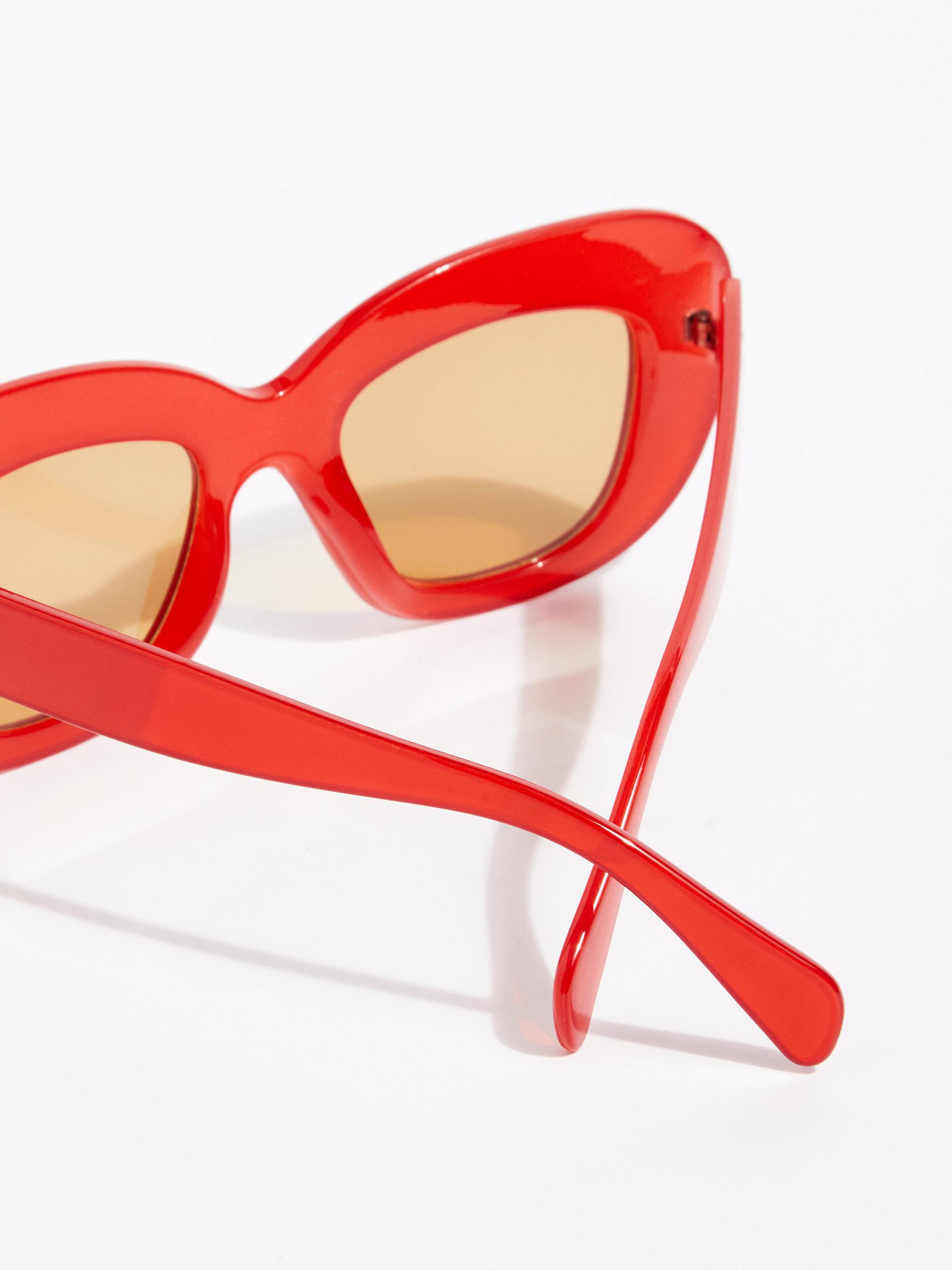 b0fb3bce67 Lyst - Free People Al Fresco Sunglasses in Red