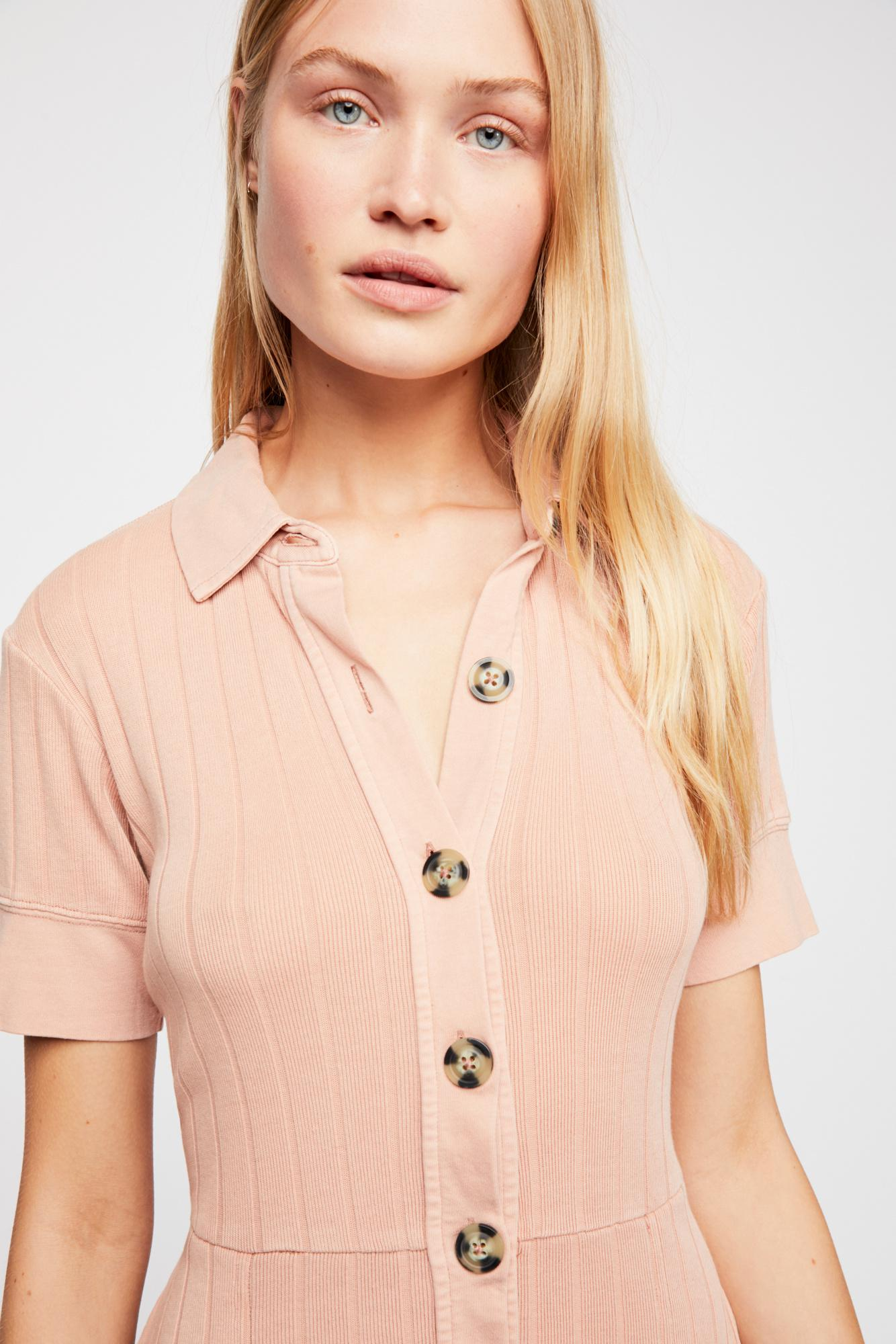 166c8edd85 Free People New Afternoon Mini Dress By Fp Beach in Pink - Lyst
